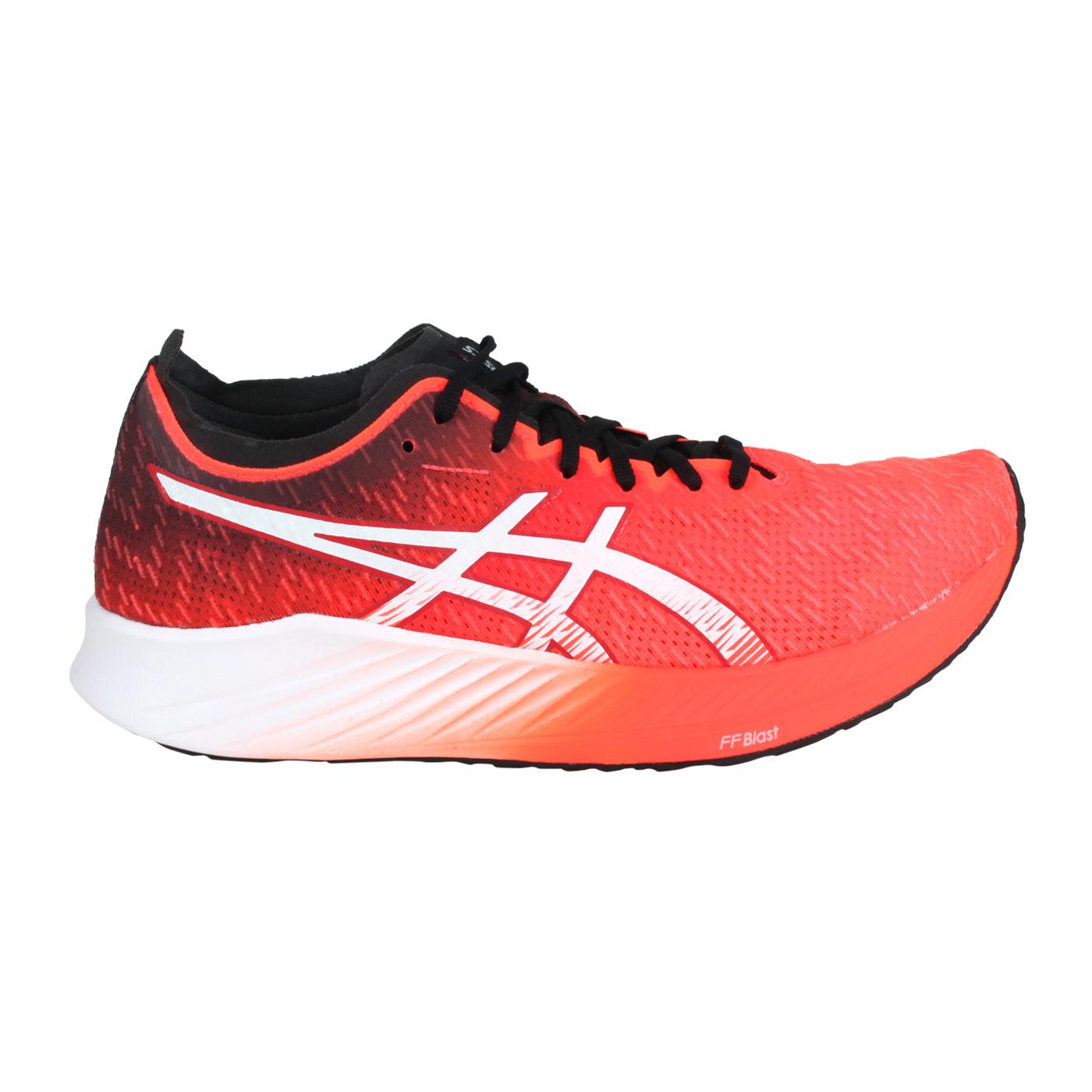 ASICS 限量-女款路跑鞋  @MAGIC SPEED@1012A895-600 - 螢光橘紅白