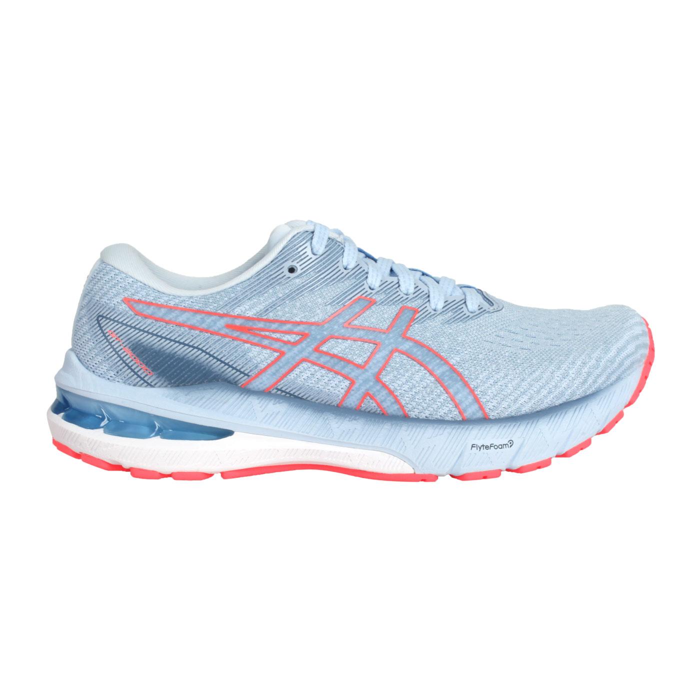 ASICS 女款慢跑鞋  @GT-2000 10@1012B045-401 - 灰藍螢光橘