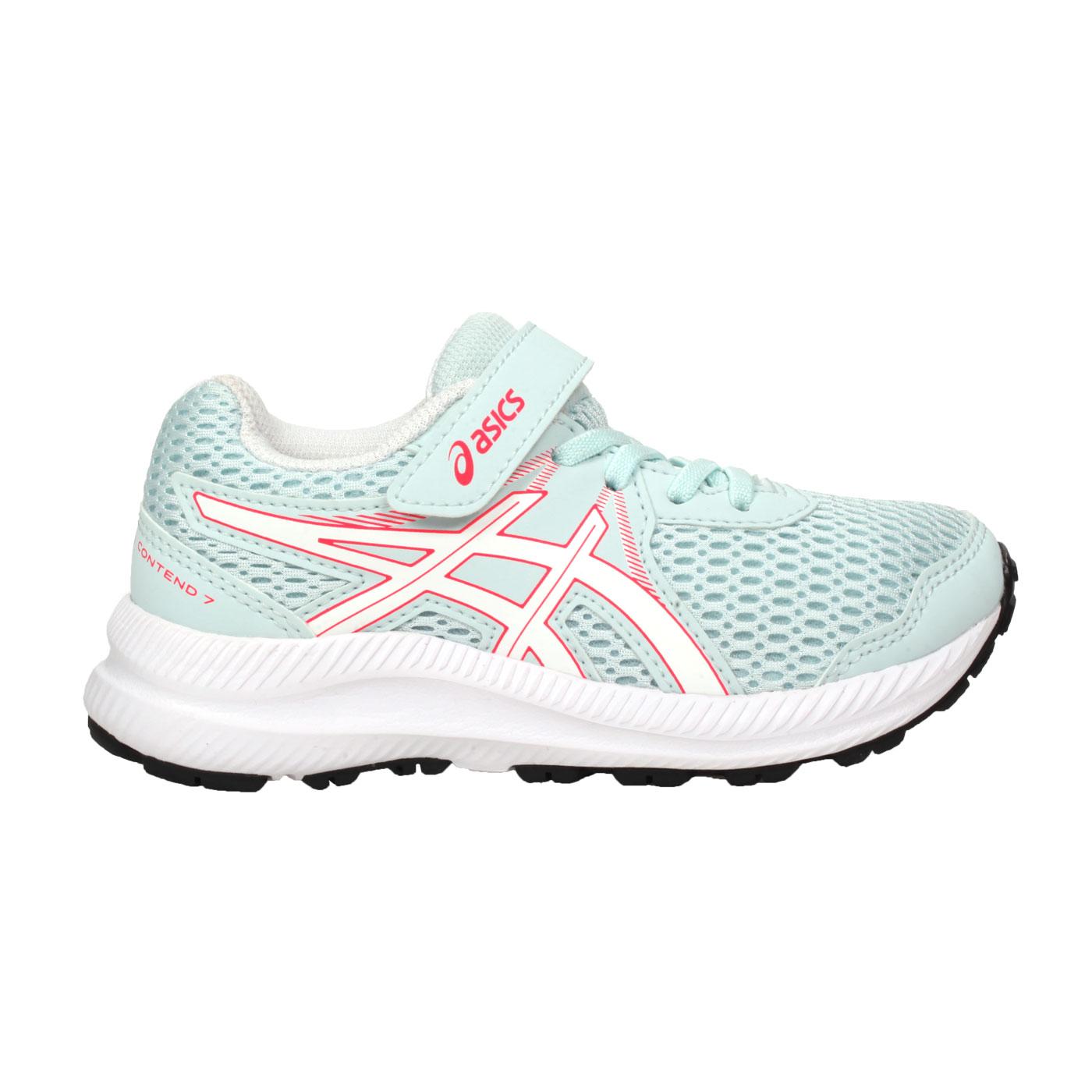 ASICS 中童慢跑鞋  @CONTEND 7 PS@1014A194-402 - 粉綠白紅