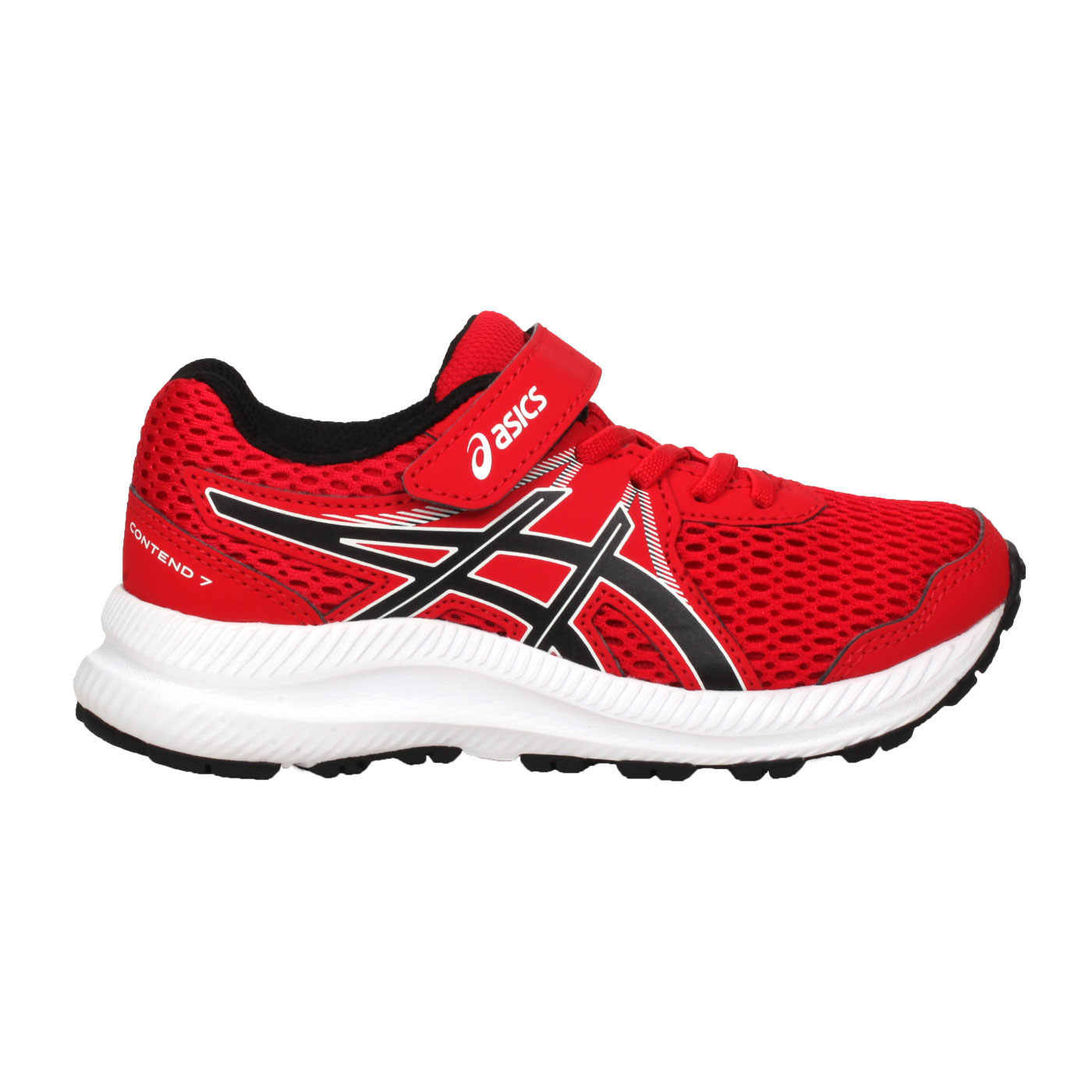ASICS 中童慢跑鞋  @CONTEND 7 PS@1014A194-600 - 紅黑白