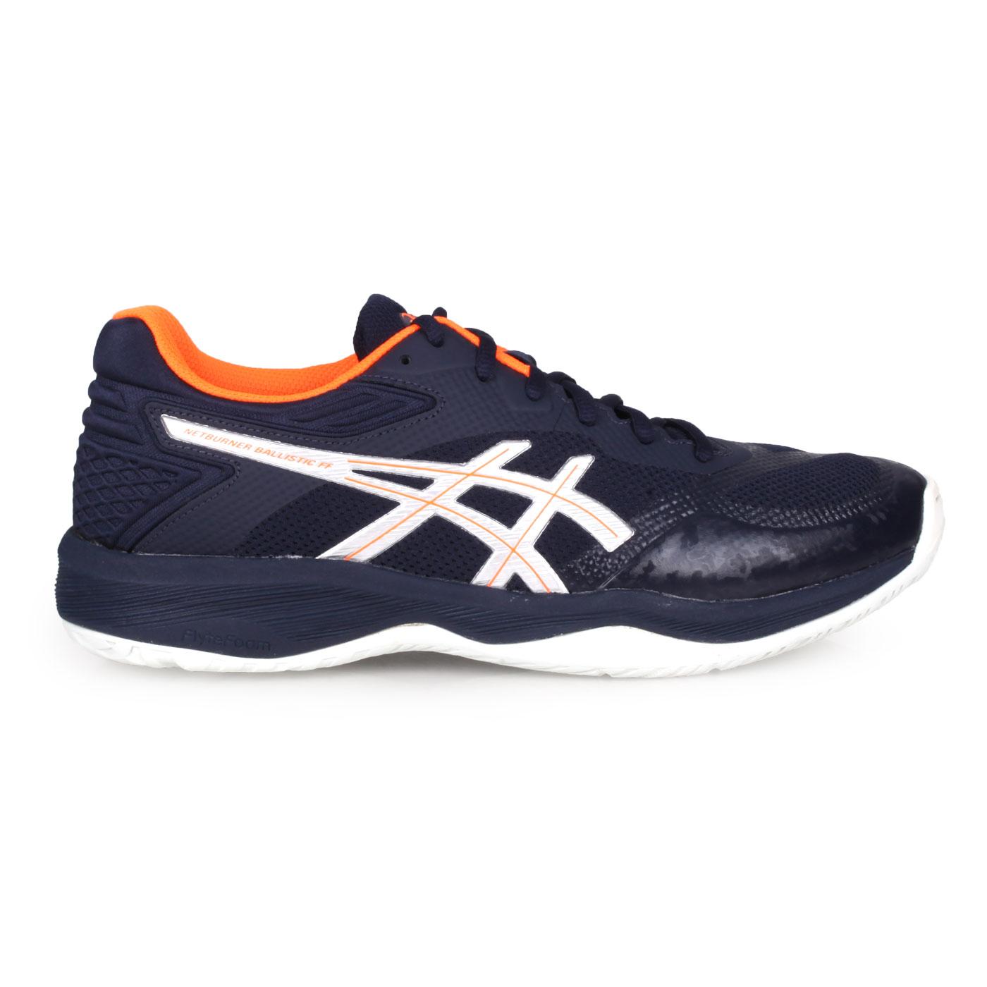 ASICS 排羽球鞋  @NETBURNER BALLISTIC FF@1051A002-100 - 丈青亮橘
