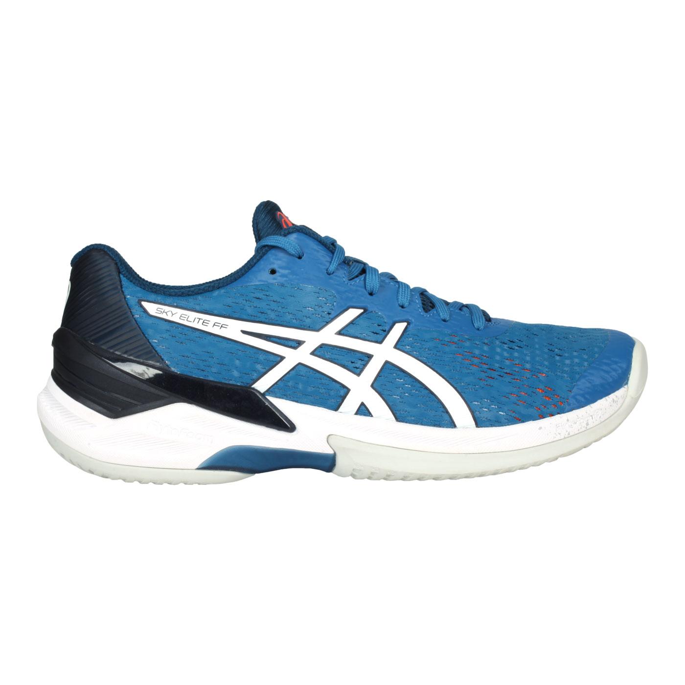 ASICS 男款排羽球鞋  @SKY ELITE FF@1051A031-404 - 藍白黑