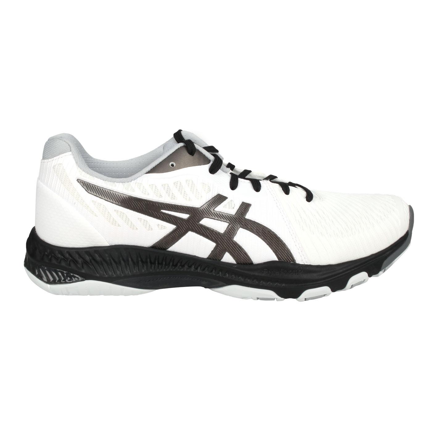 ASICS 男款排羽球鞋  @NETBURNER BALLISTIC FF 2@1051A041-001 - 白黑灰