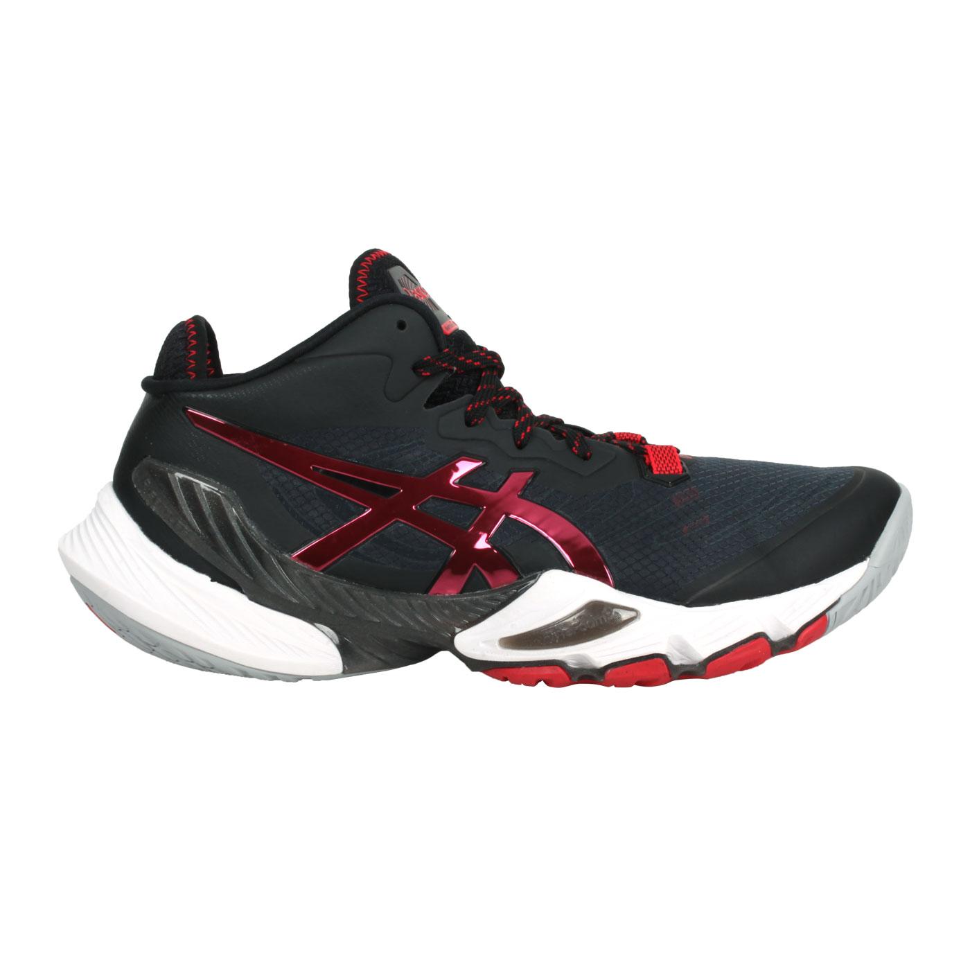 ASICS 限量-男款排羽球鞋  @METARISE@1051A058-001 - 黑紅