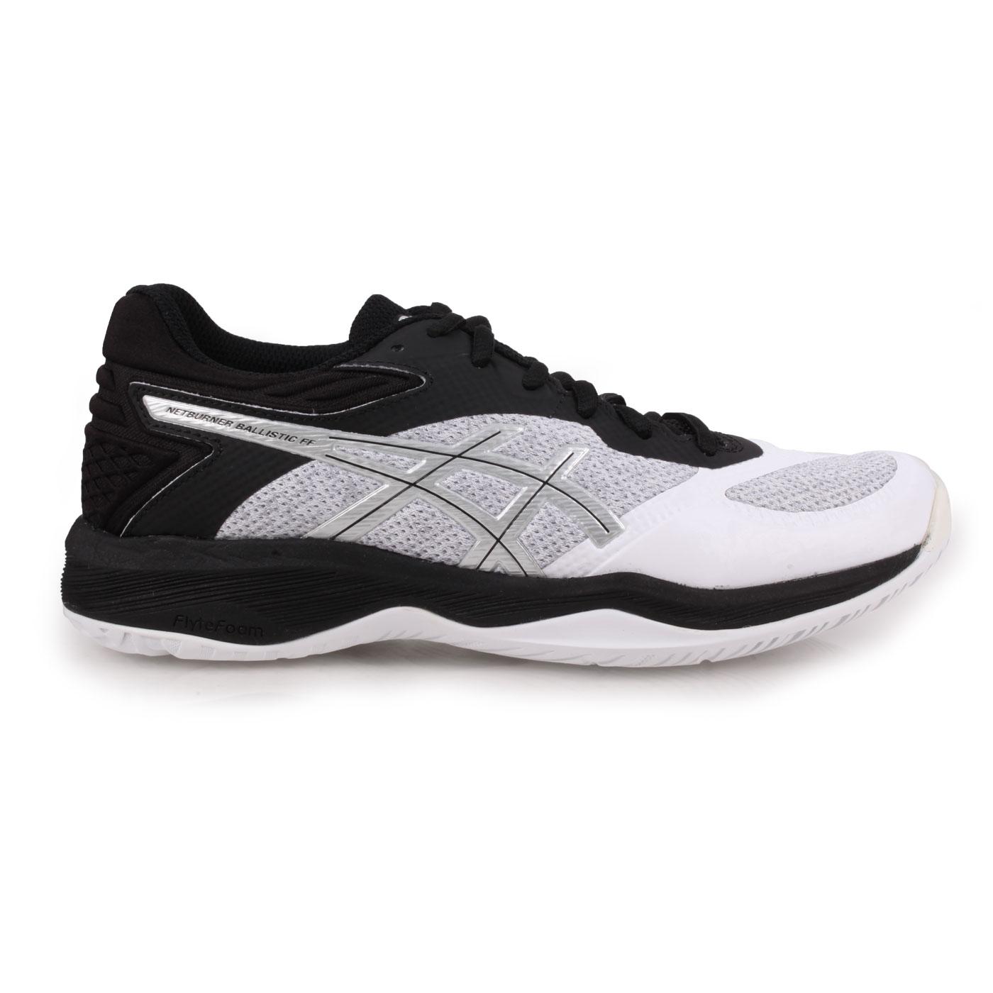 ASICS 女款排羽球鞋  @NETBURNER BALLISTIC@1052A002-100 - 黑白