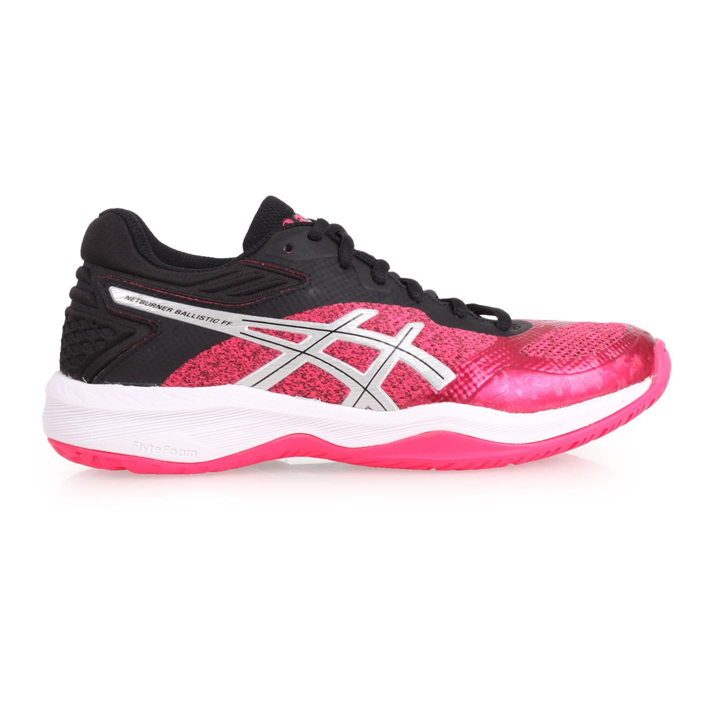 ASICS 女款排羽球鞋  @NETBURNER BALLISTIC@1052A002-100 - 桃紅黑銀