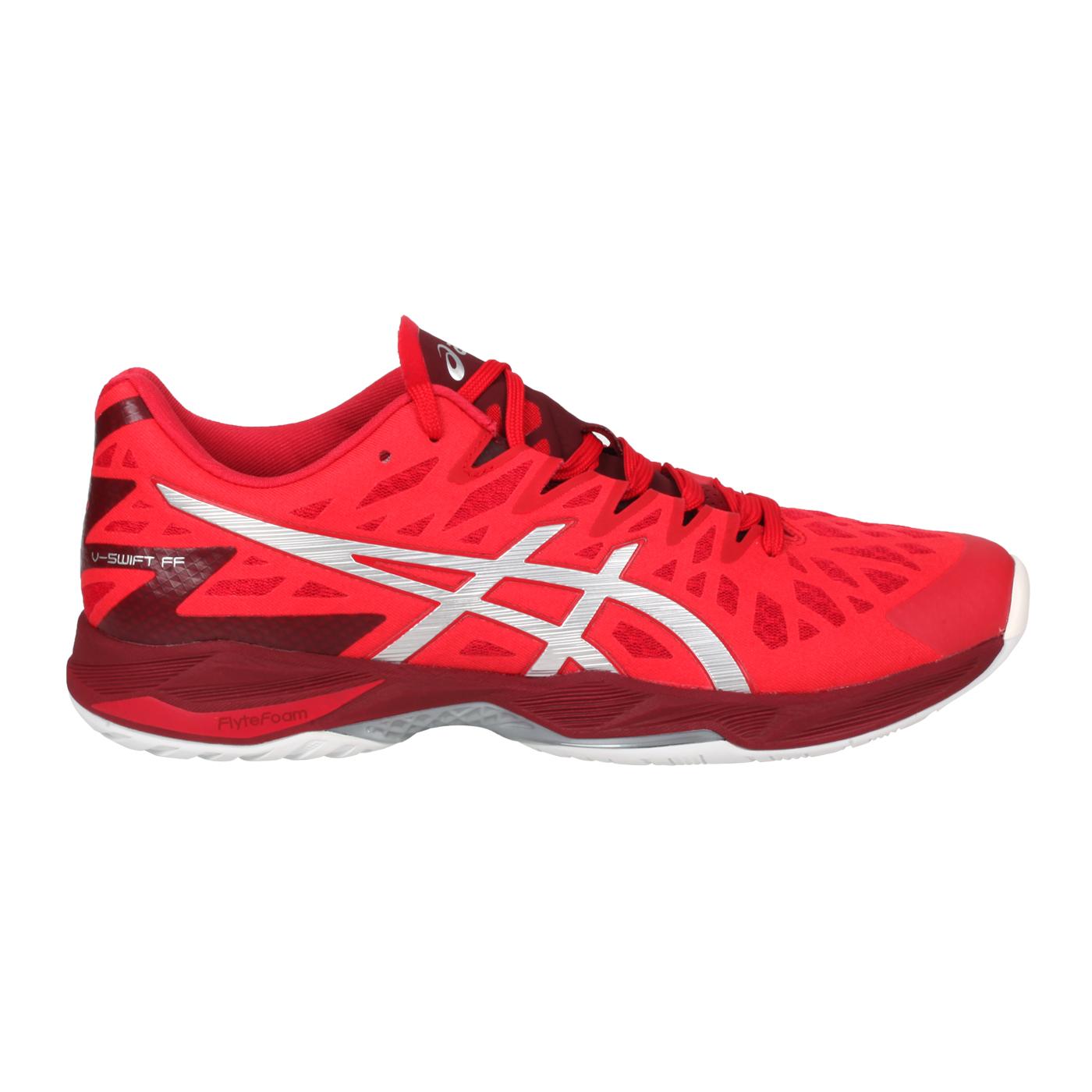 ASICS 男款排羽球鞋  @V-SWIFT FF 2@1053A017-600 - 紅銀