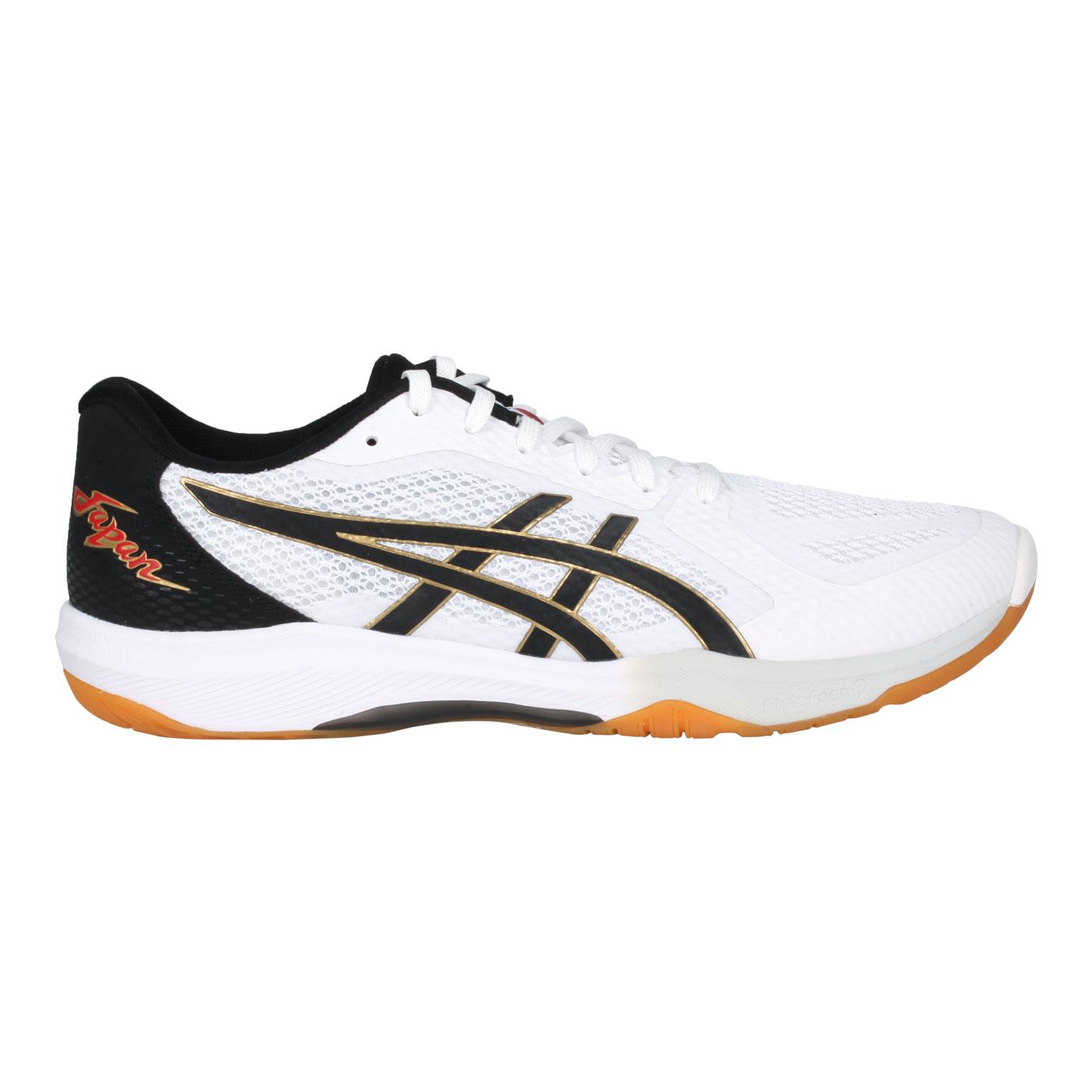 ASICS 男款排羽球鞋  @ROTE JAPAN LYTE FF 2@1053A028-103 - 白黑金