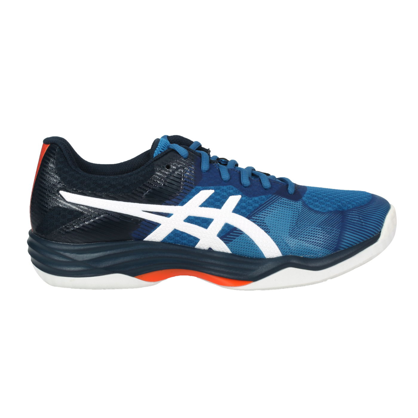 ASICS 男款排羽球鞋  @GEL-TACTIC1071A031-402 - 藍白橘