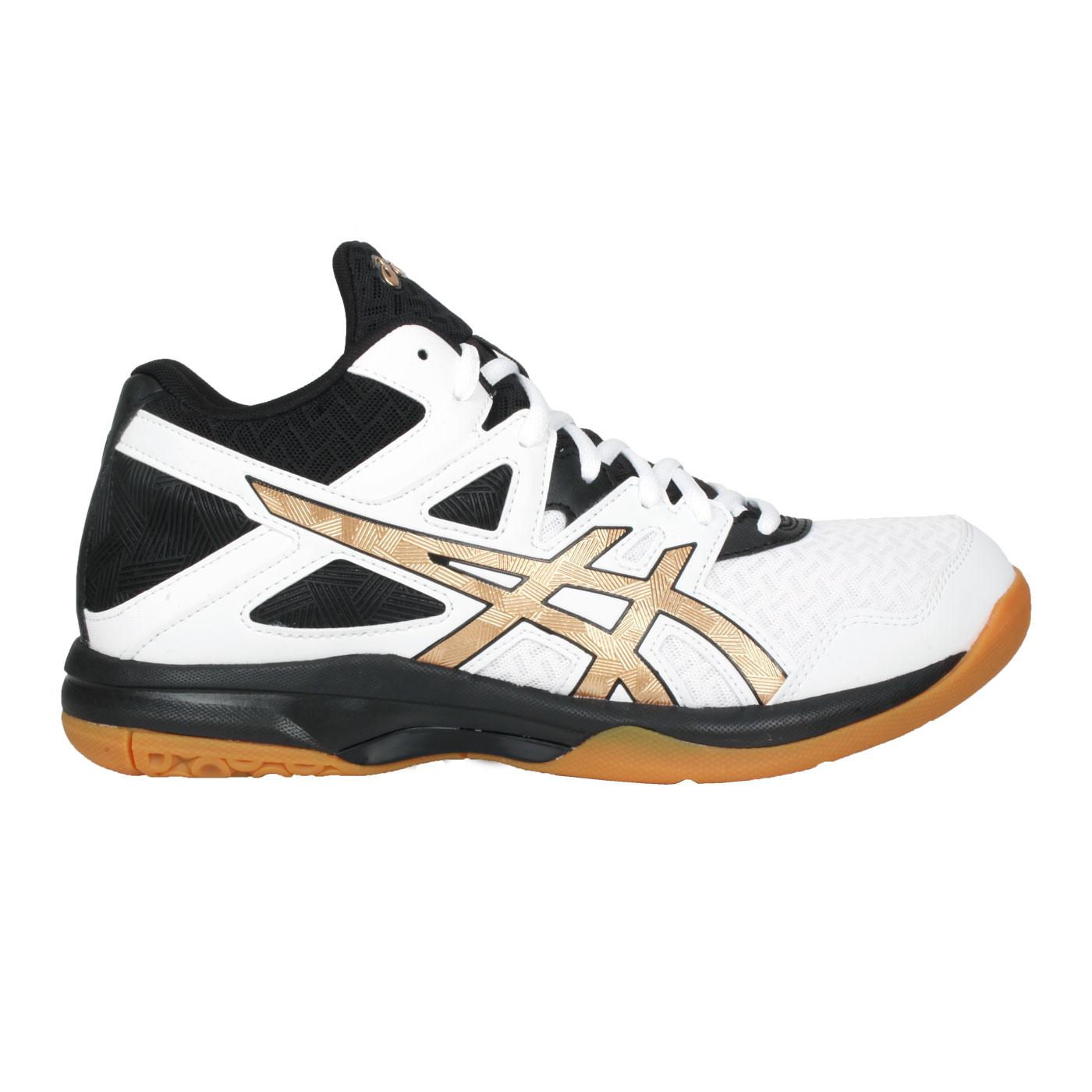 ASICS 男款排羽球鞋  @GEL-TASK MT 2@1071A036-102 - 白黑金