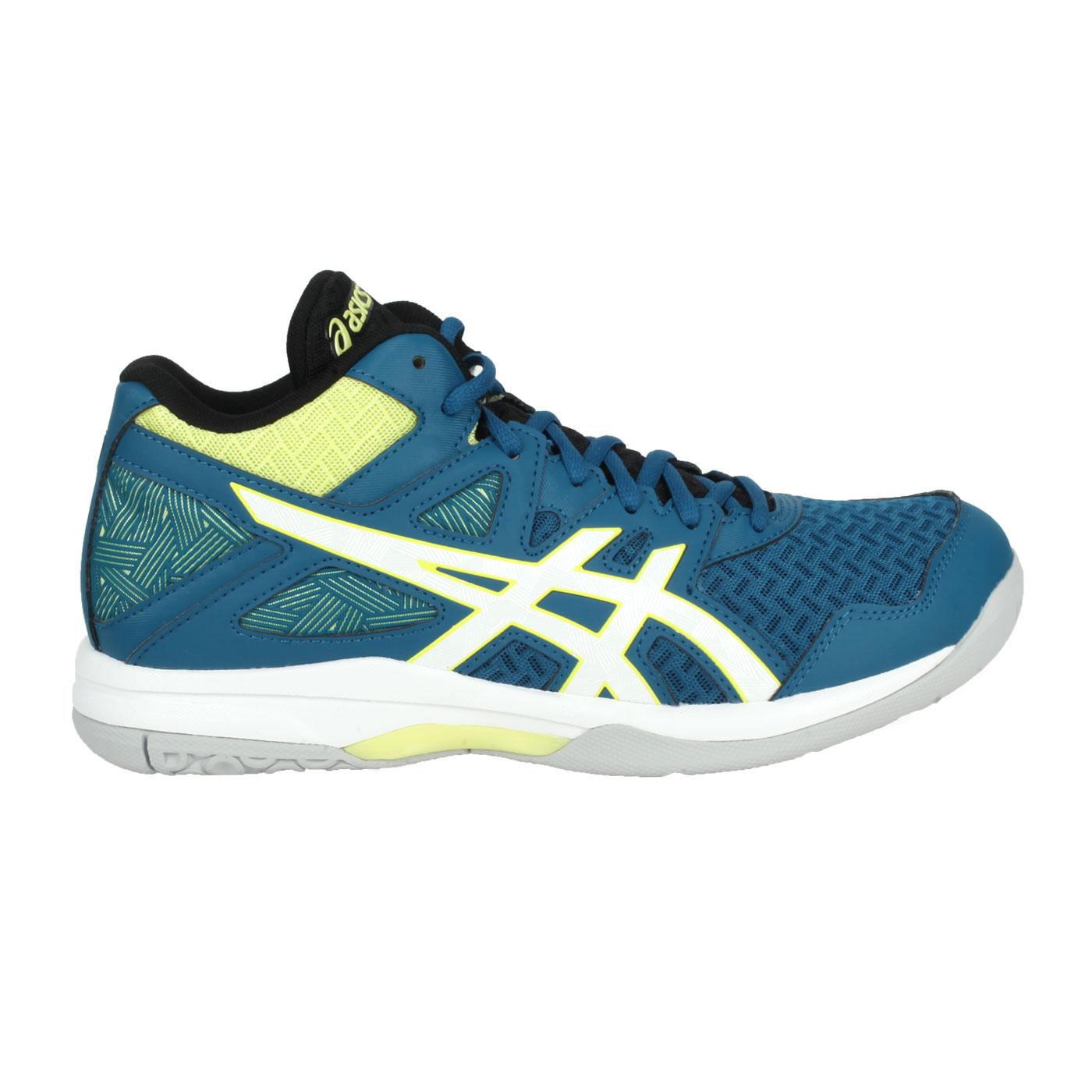 ASICS 男款排羽球鞋  @GEL-TASK MT 2@1071A036-401 - 藍綠白黃
