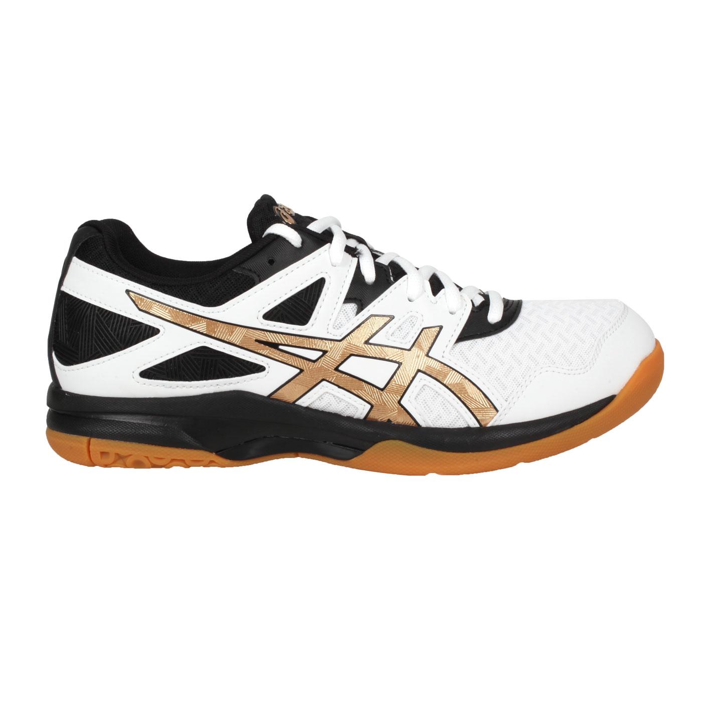 ASICS 男款排羽球鞋  @GEL-TASK 2@1071A037-102 - 白黑金