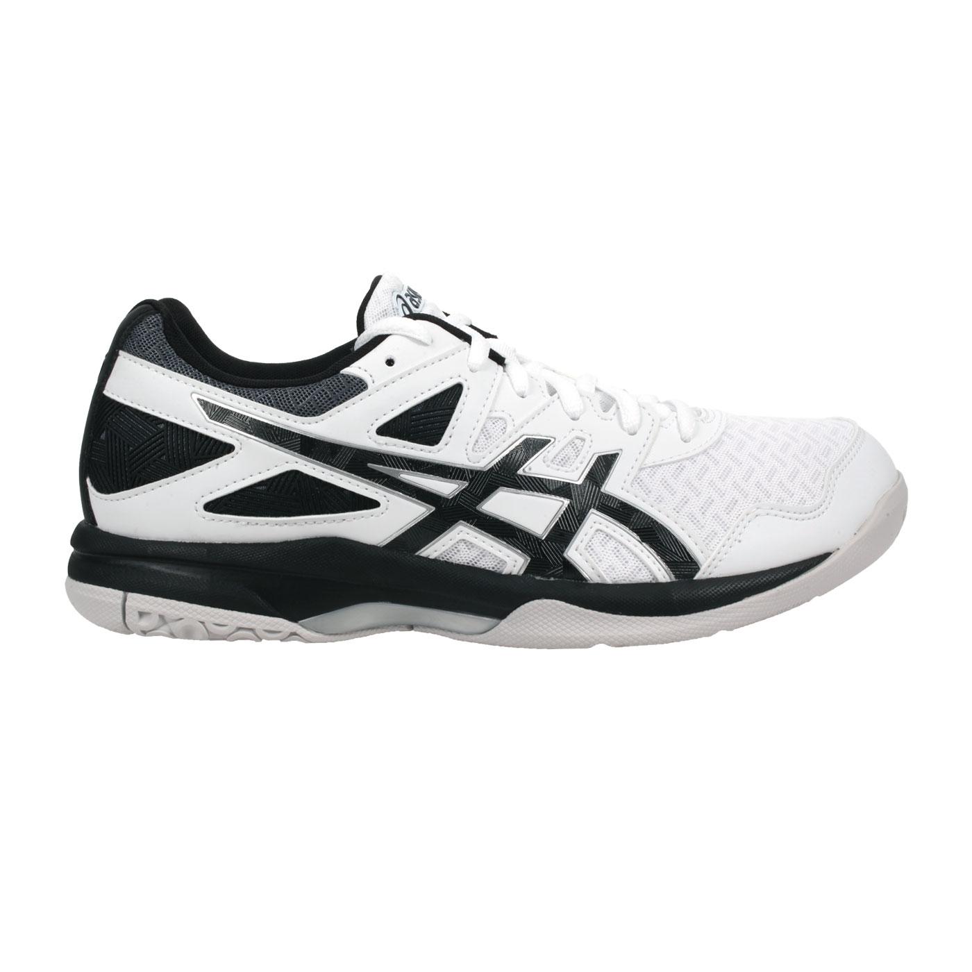 ASICS 男款排羽球鞋  @GEL-TASK 2@1071A037-004 - 白黑