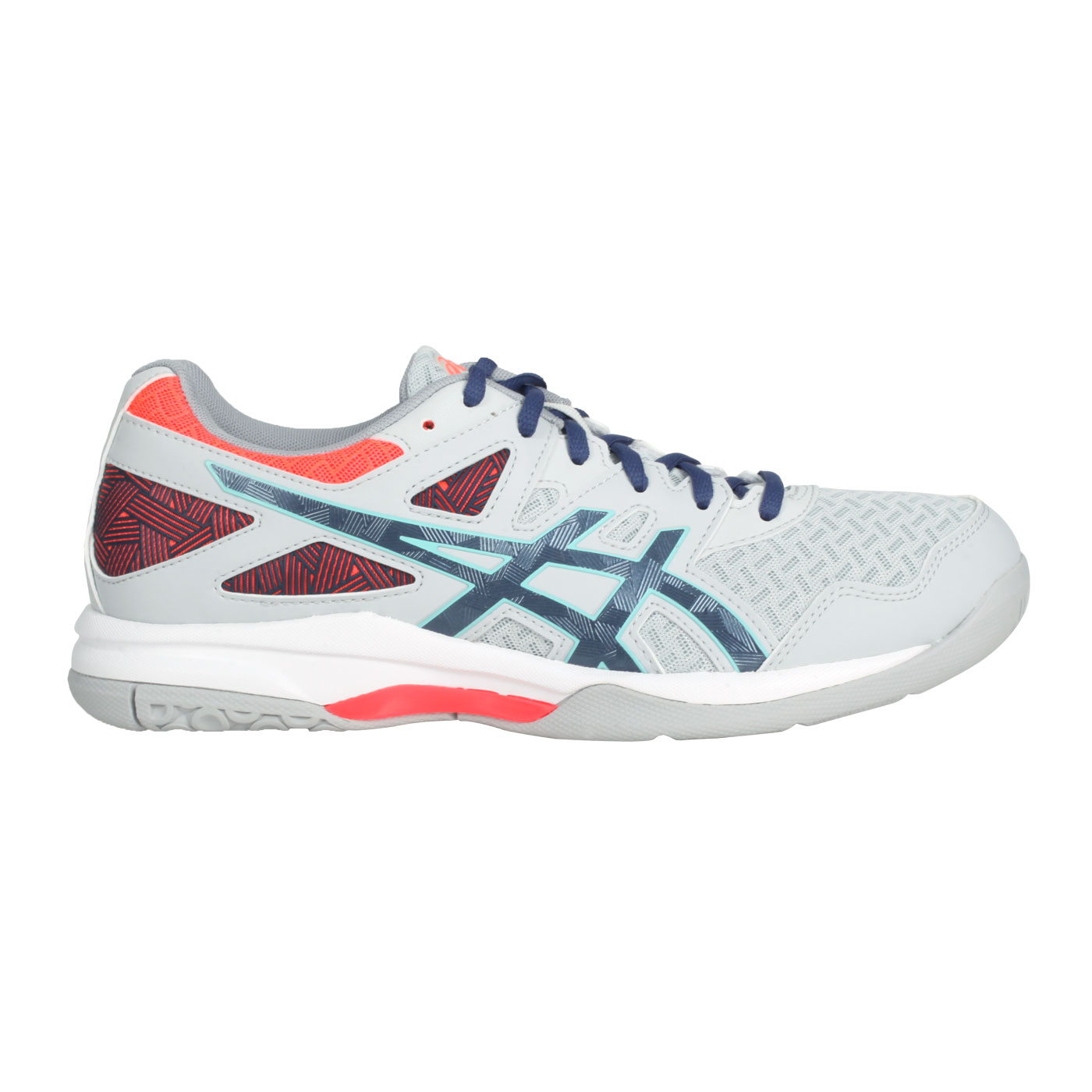 ASICS 男款排羽球鞋   @GEL-TASK 2@1071A037-960 - 灰藍橘