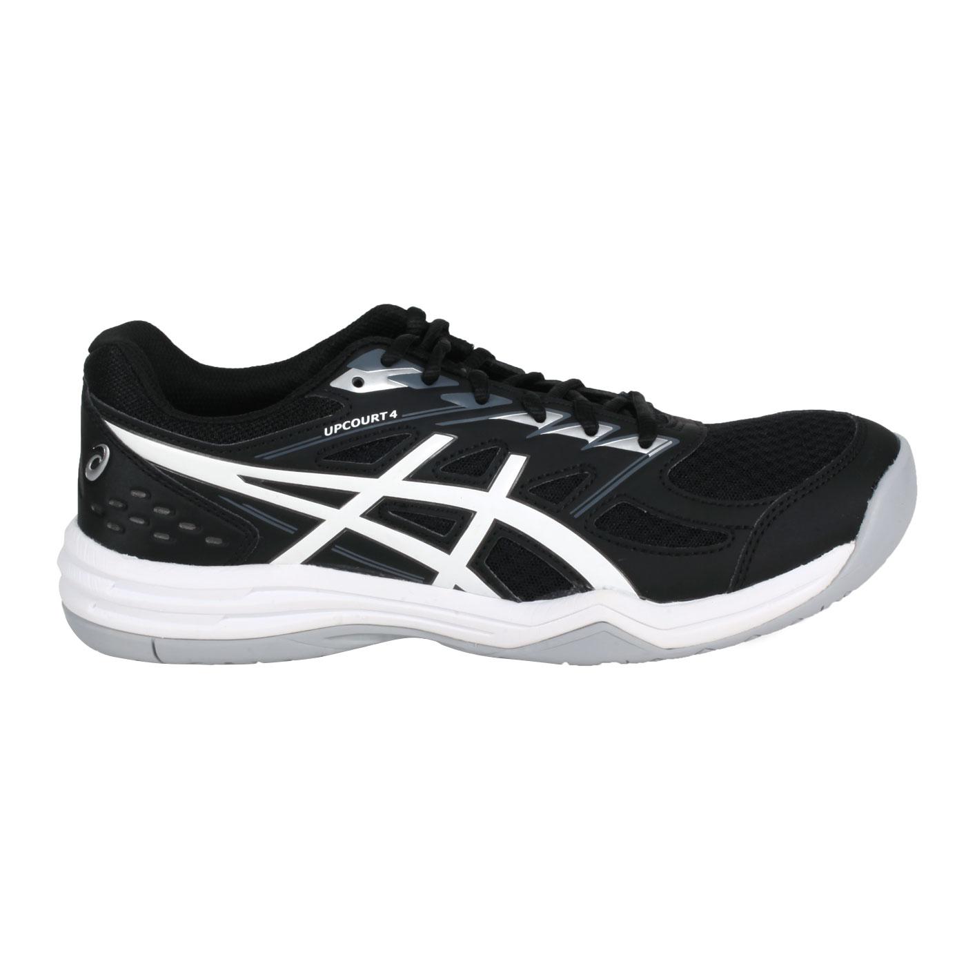 ASICS 男款排羽球鞋  @UPCOURT 4@1071A053-003 - 黑白