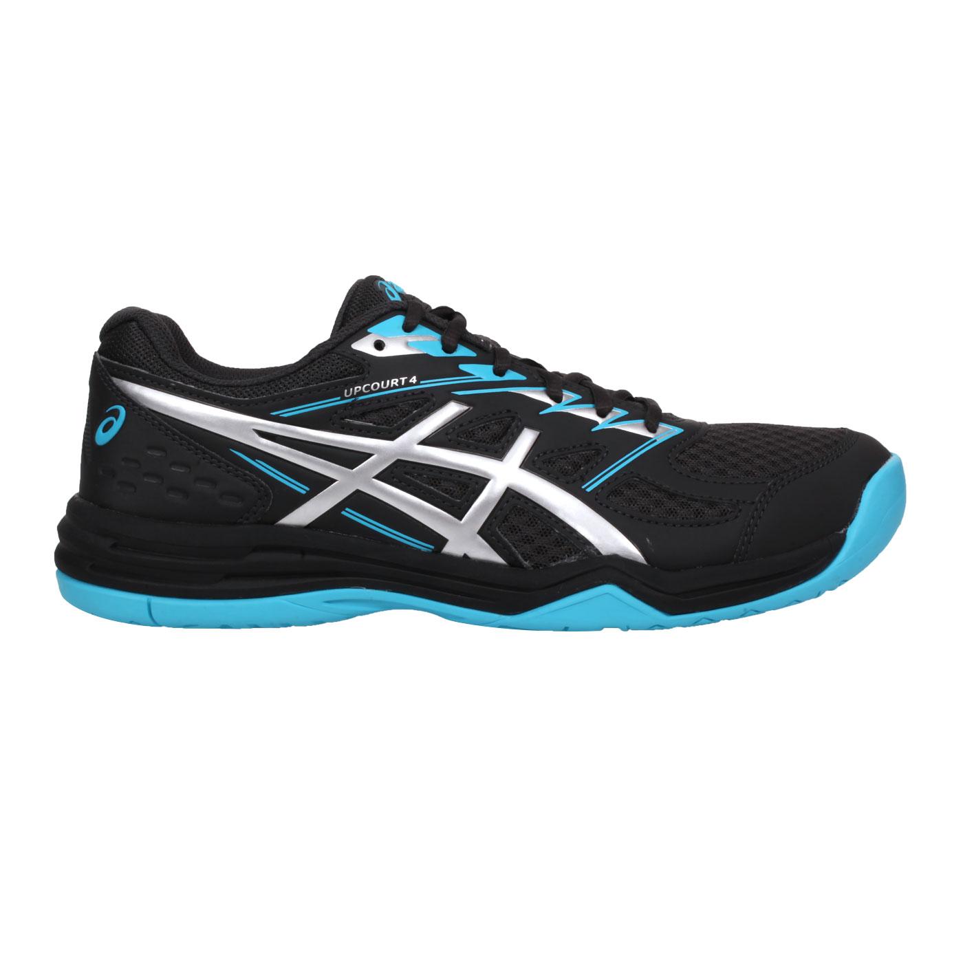 ASICS 男款排羽球鞋  @UPCOURT 4@1071A053-020 - 黑藍銀