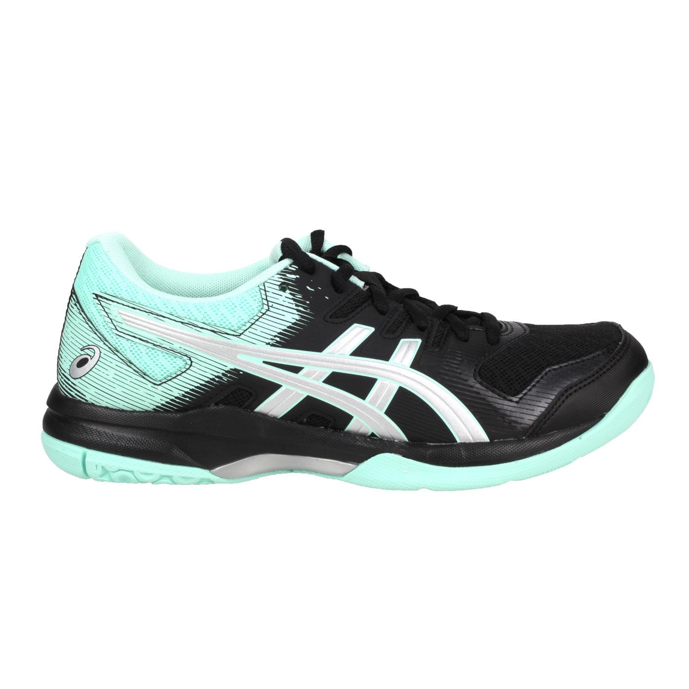 ASICS 女款排羽球鞋  @GEL-ROCKET 9@1072A034-003 - 黑粉綠銀