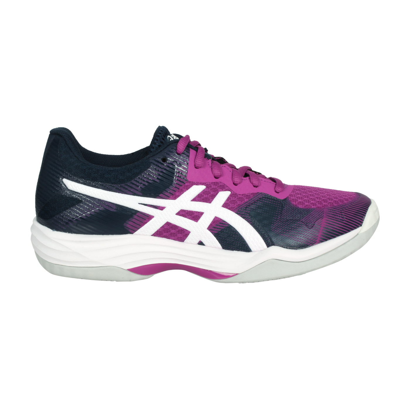 ASICS 女款排羽球鞋  @GEL-TACTIC@1072A035-501 - 紫白丈青
