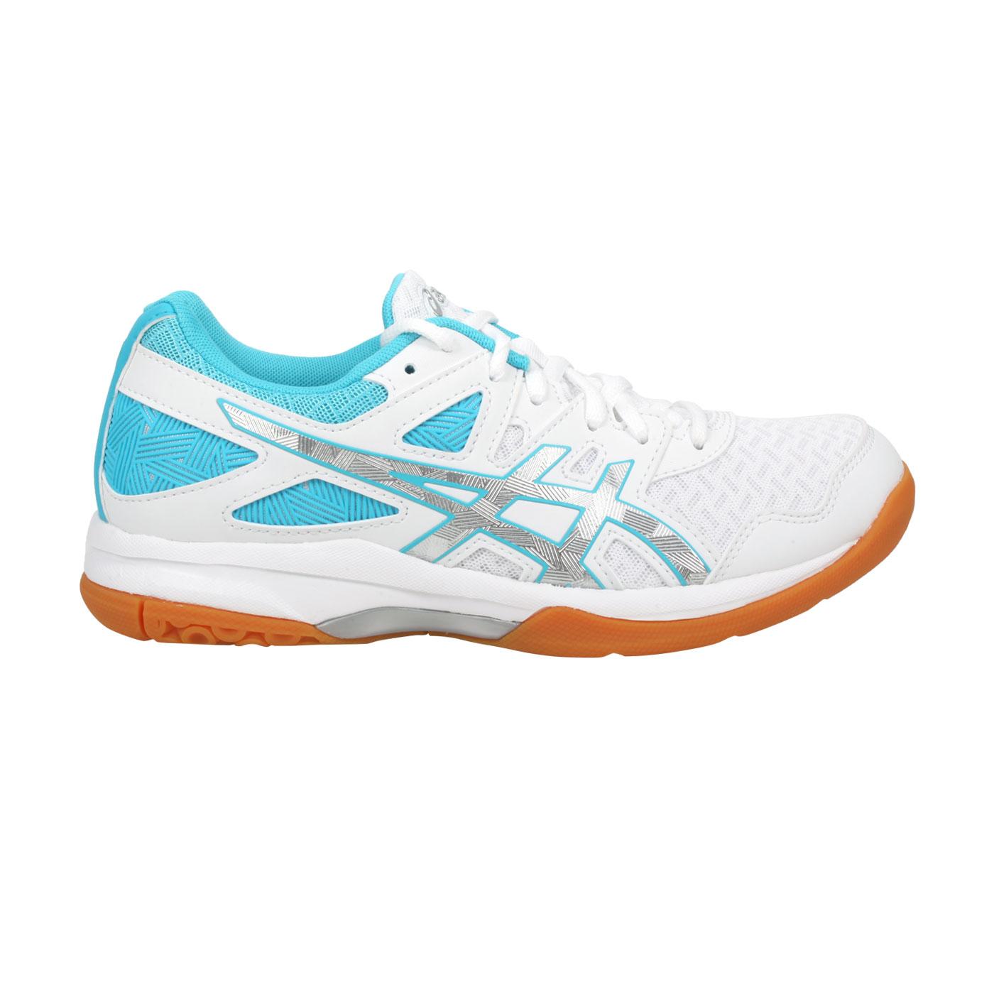 ASICS 女款排羽球鞋  @GEL-TASK 2@1072A038-102 - 白水藍銀