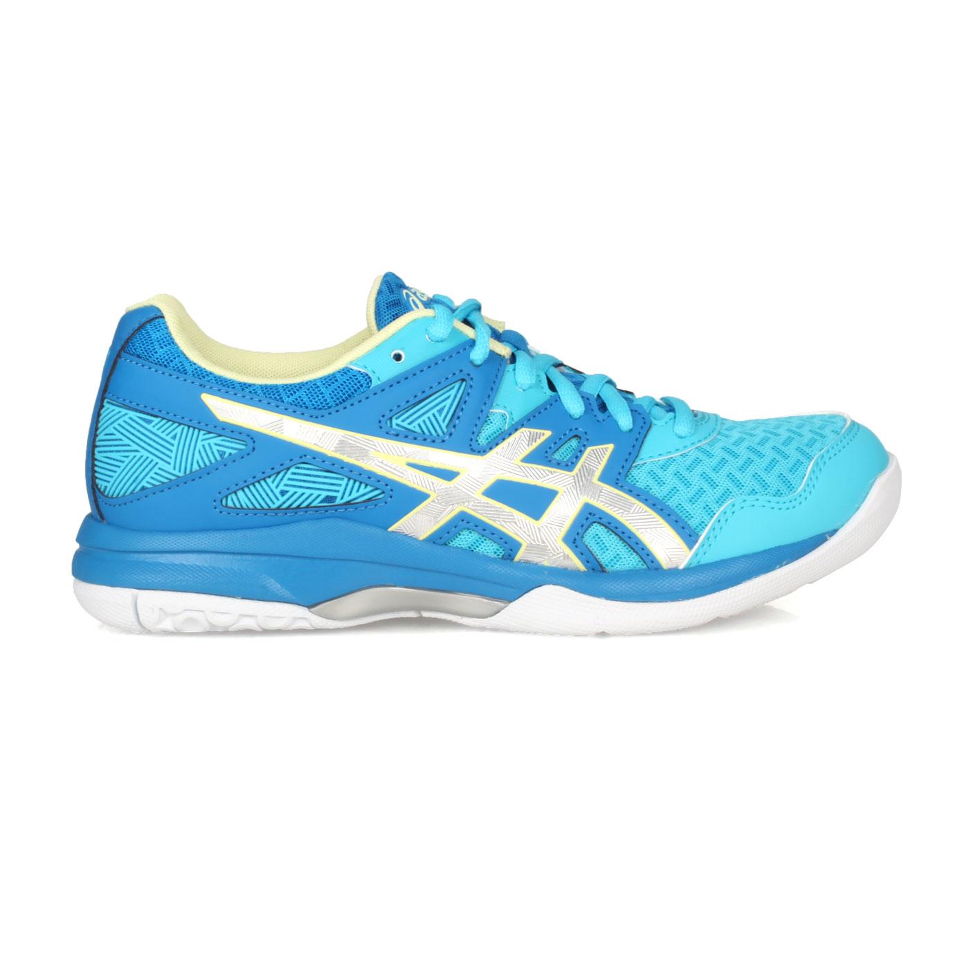 ASICS 女款排羽球鞋  @GEL-TASK 2@1072A038-401 - 藍銀淺綠
