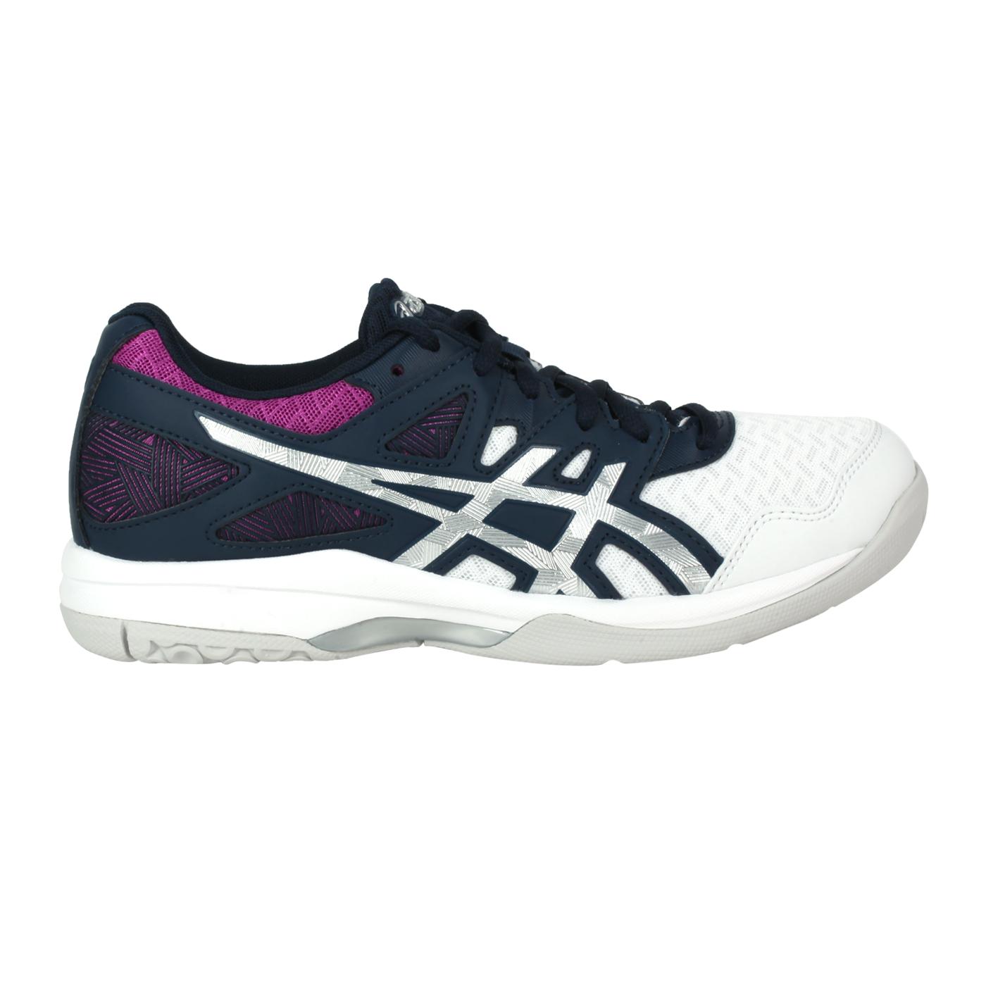 ASICS 女款排羽球鞋  @GEL-TASK 2@1072A038-403 - 墨藍銀紫白