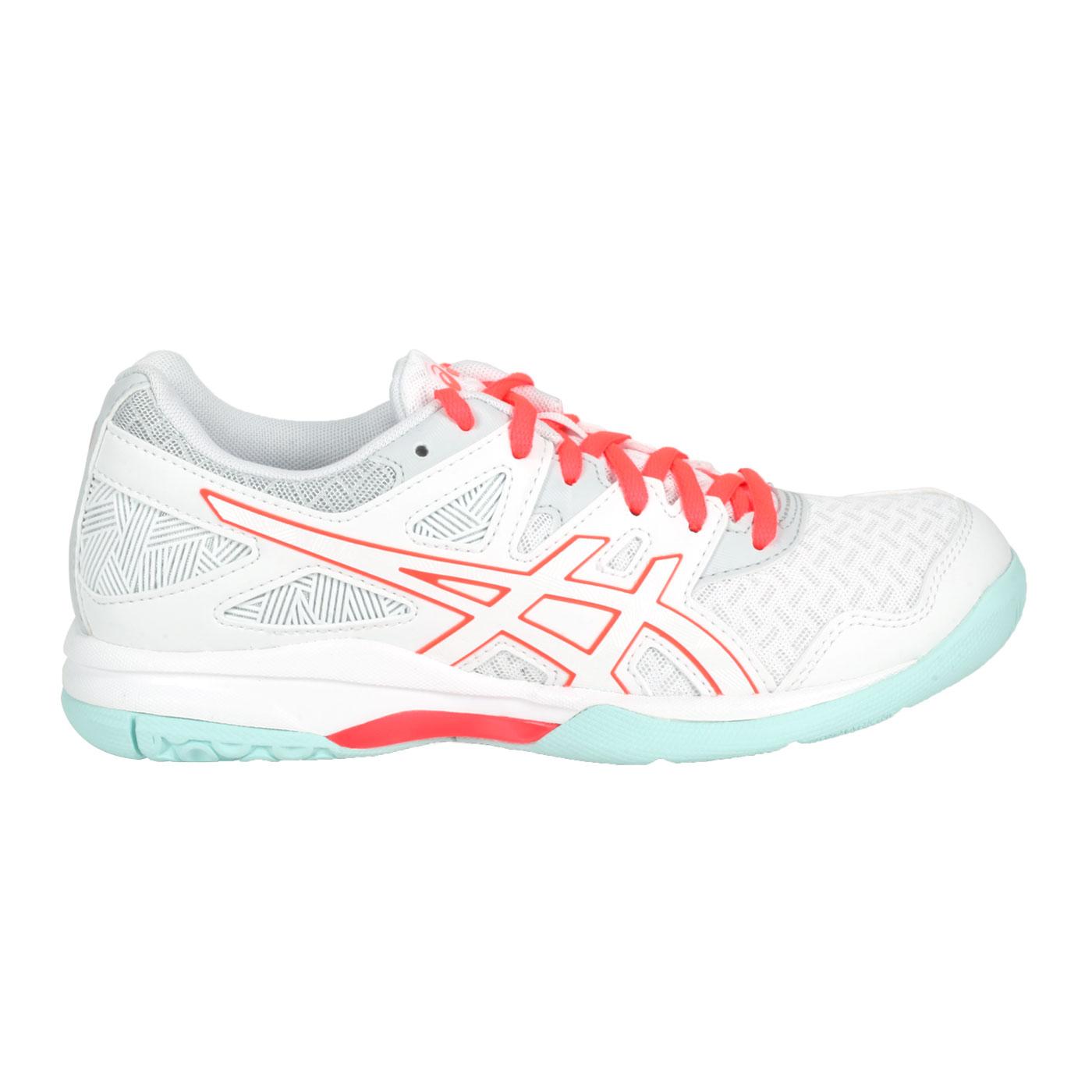 ASICS 女款排羽球鞋  @GEL-TASK 2@1072A038-960 - 白亮粉淺綠