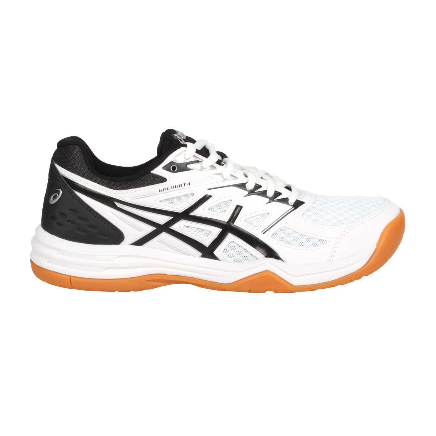 ASICS 女款排羽球鞋  @UPCOURT 4@1072A055-100 - 白黑