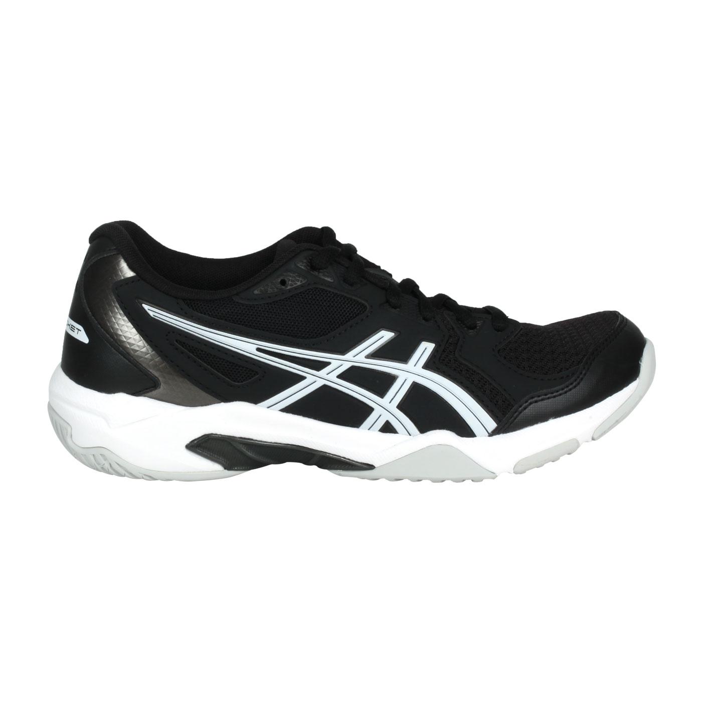 ASICS 女款排羽球鞋  @GEL-ROCKET 10@1072A056-001 - 黑白