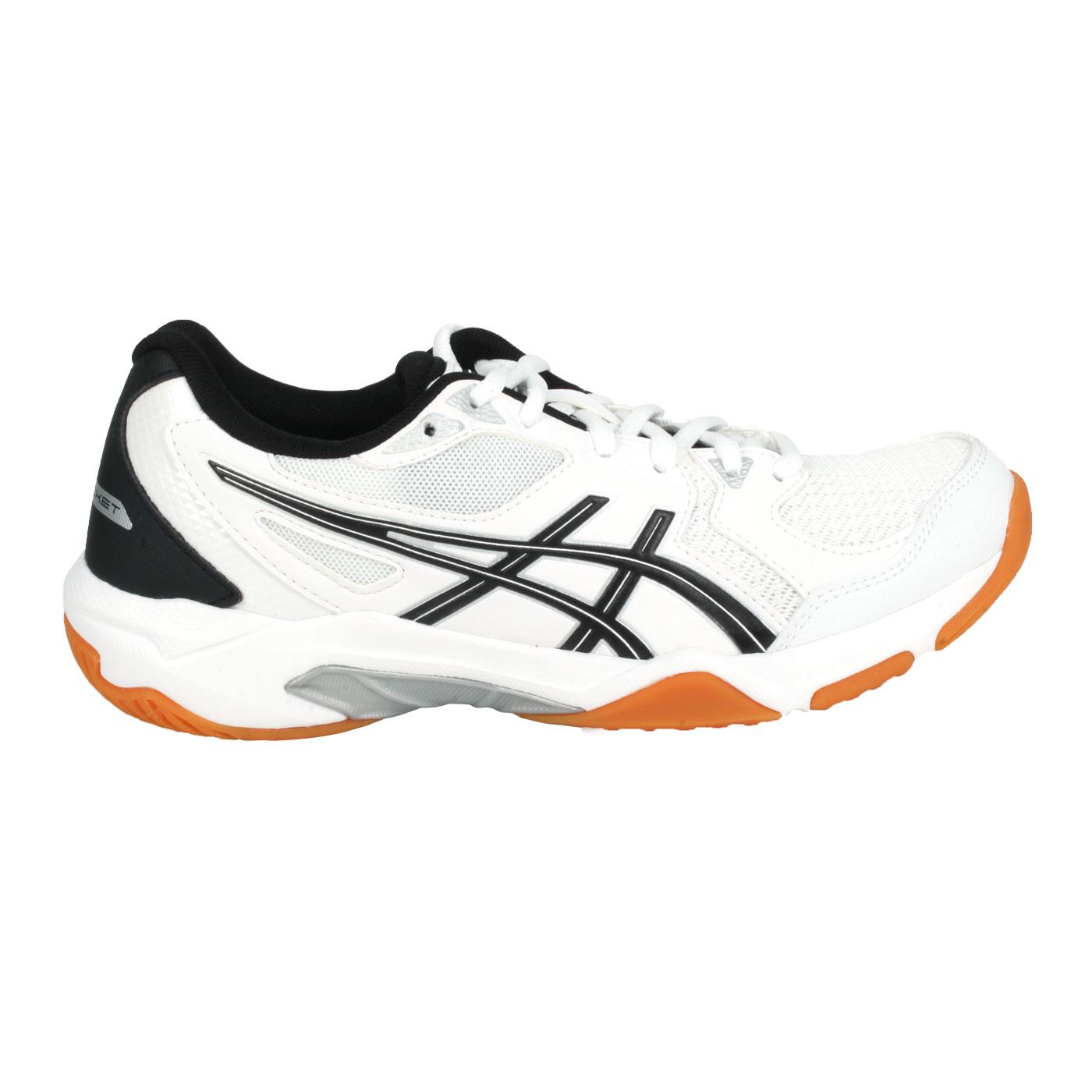 ASICS 女款排羽球鞋  @GEL-ROCKET 10@1072A056-104 - 白黑銀