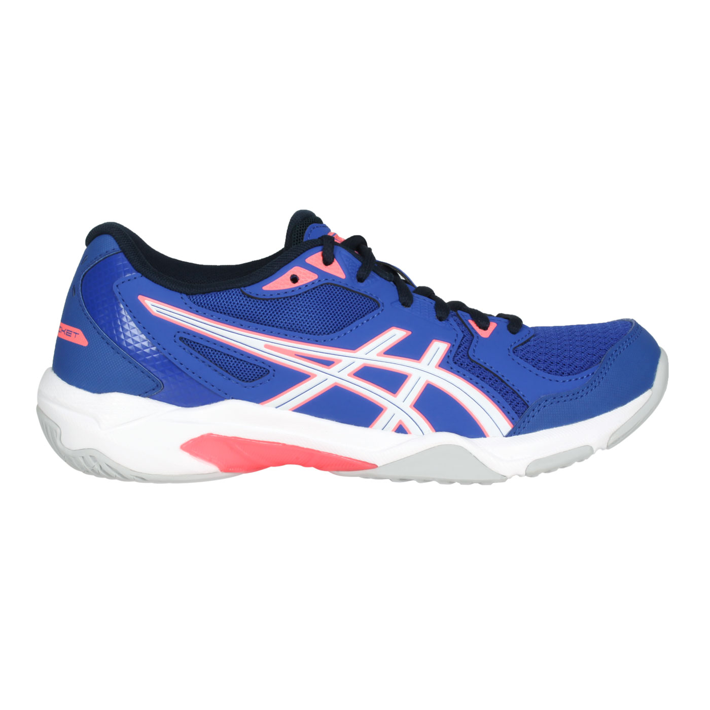 ASICS 女款排羽球鞋  @GEL-ROCKET 10@1072A056-402 - 深藍白粉