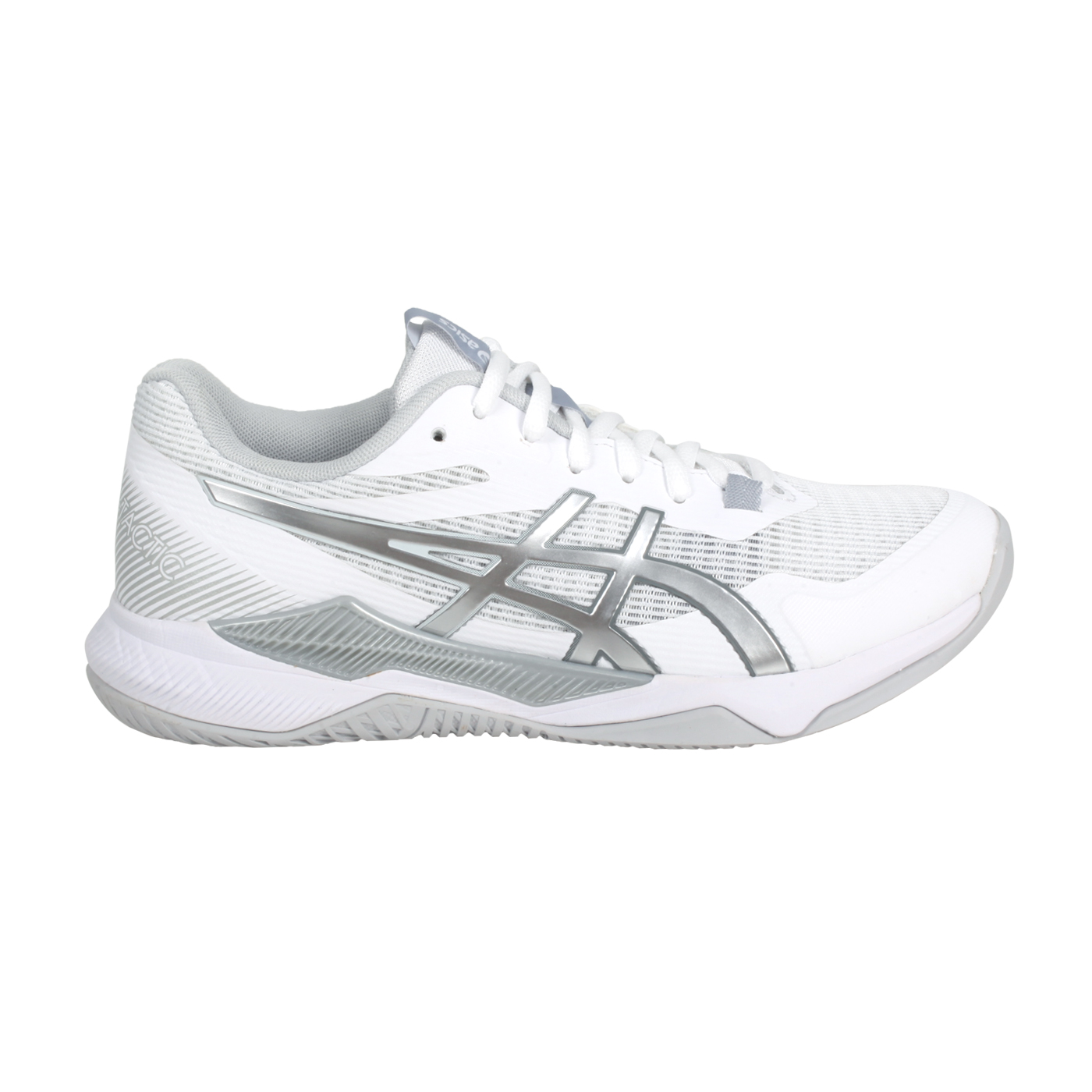 ASICS 女款排羽球鞋  @GEL-TACTIC@1072A070-101 - 白銀