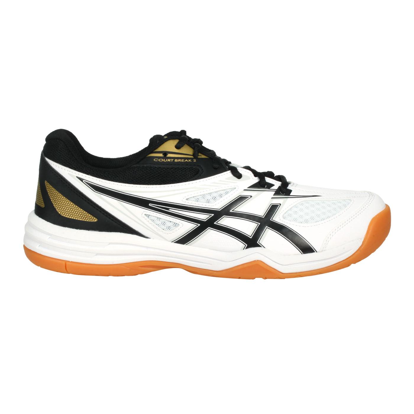 ASICS 男款羽球鞋  @COURT BREAK 2@1073A013-102 - 白黑金