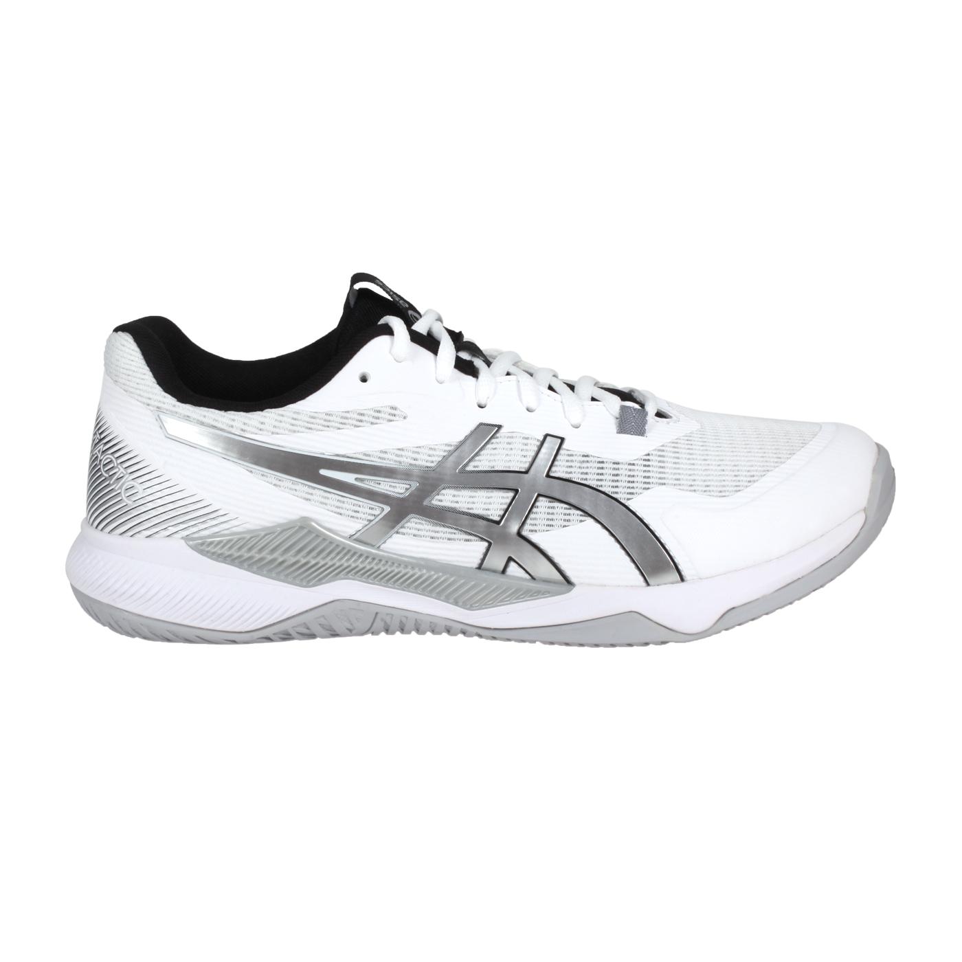 ASICS 男女排羽球鞋-2E  @GEL-TACTIC@1073A050-100 - 白銀黑