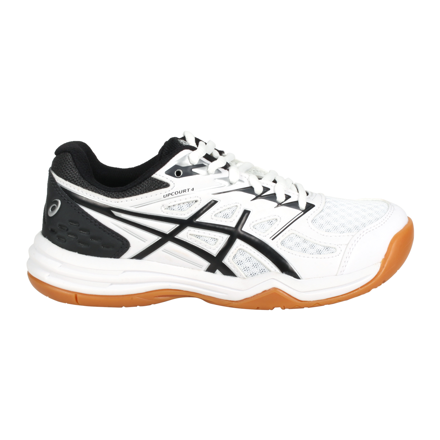 ASICS 大童排羽球鞋  @UPCOURT 4 GS@1074A027-100 - 白黑