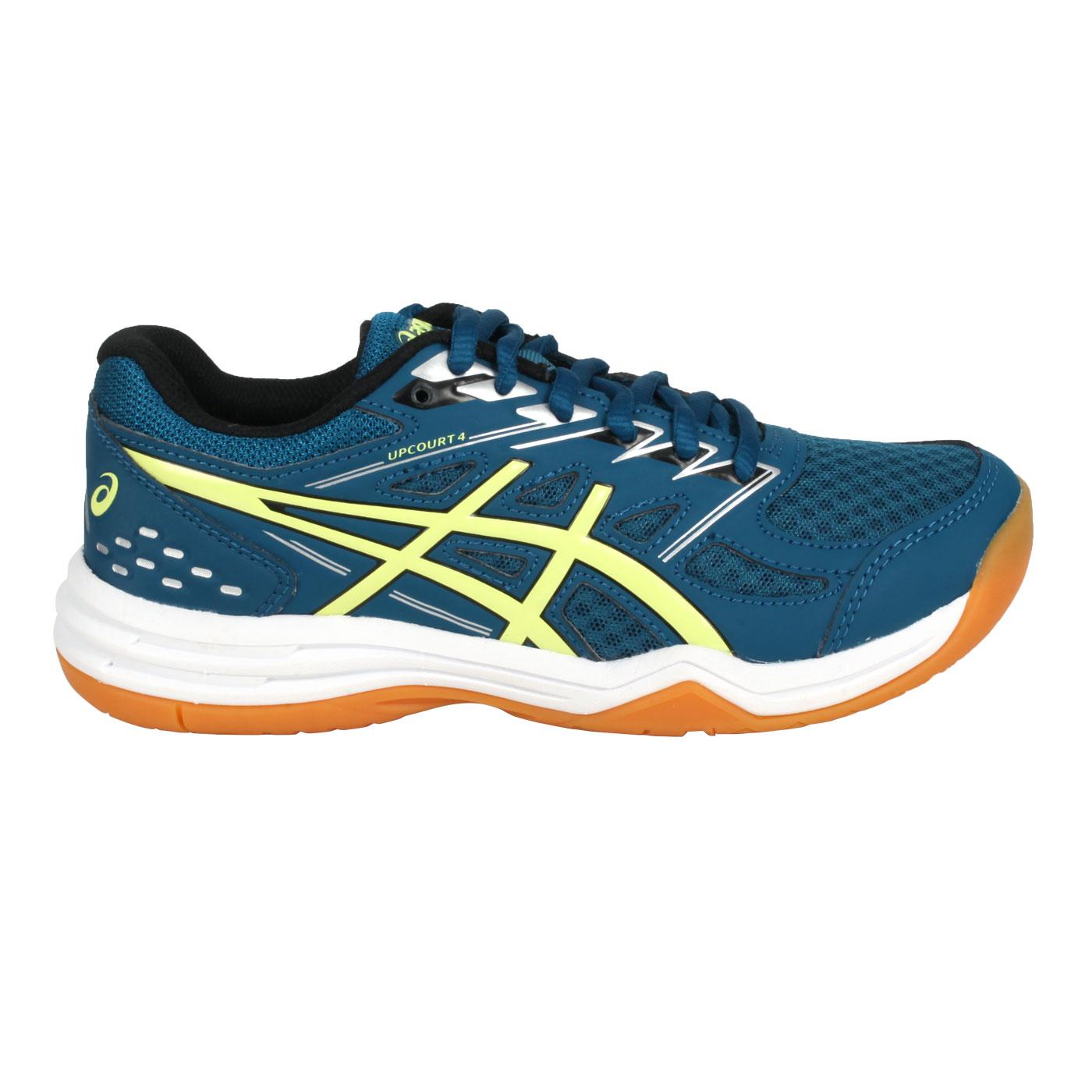 ASICS 大童排羽球鞋  @UPCOURT 4 GS@1074A027-404 - 藍綠黃
