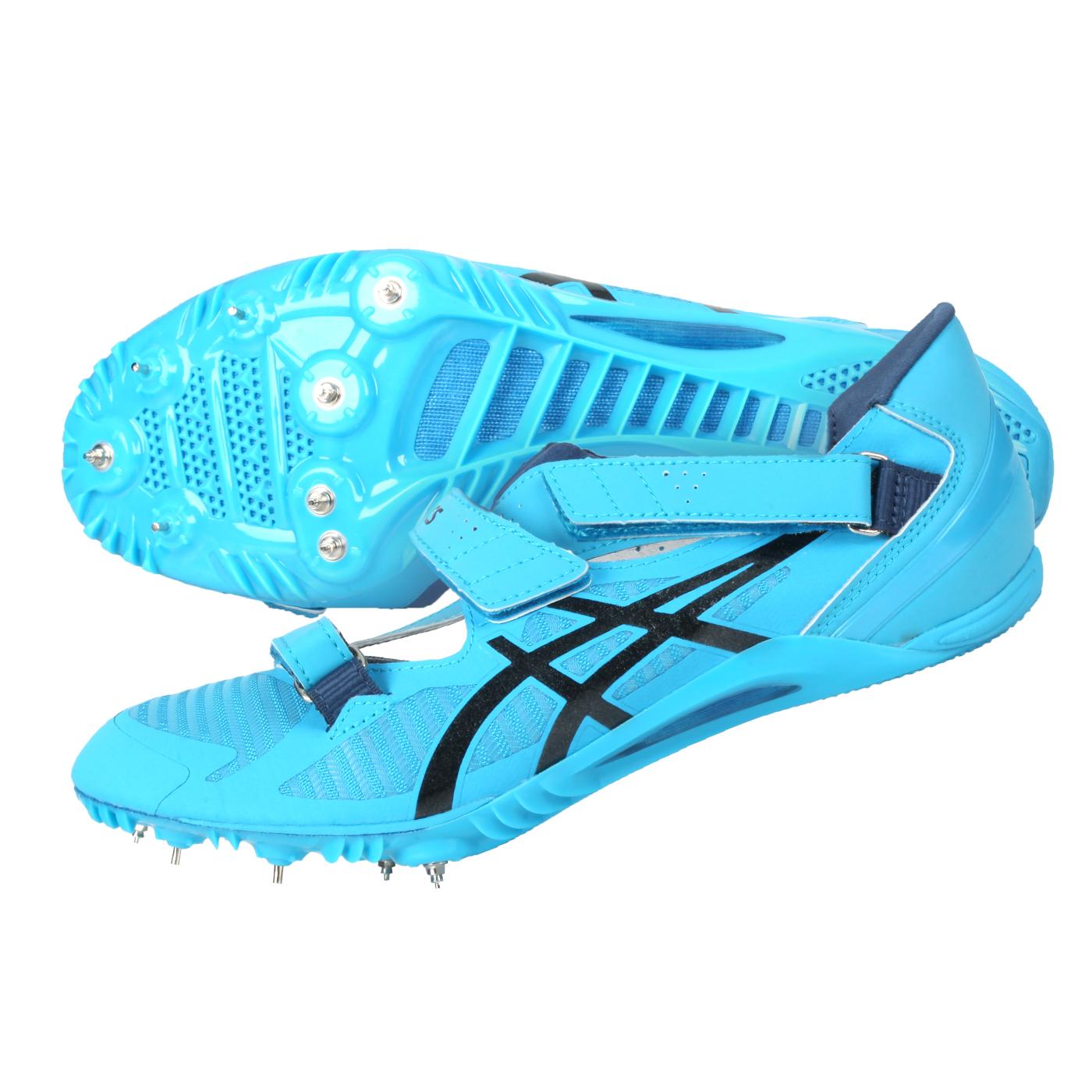 ASICS 男女田徑釘鞋(短距離)  @CYBERBLADE 16@1093A134-402 - 藍水藍