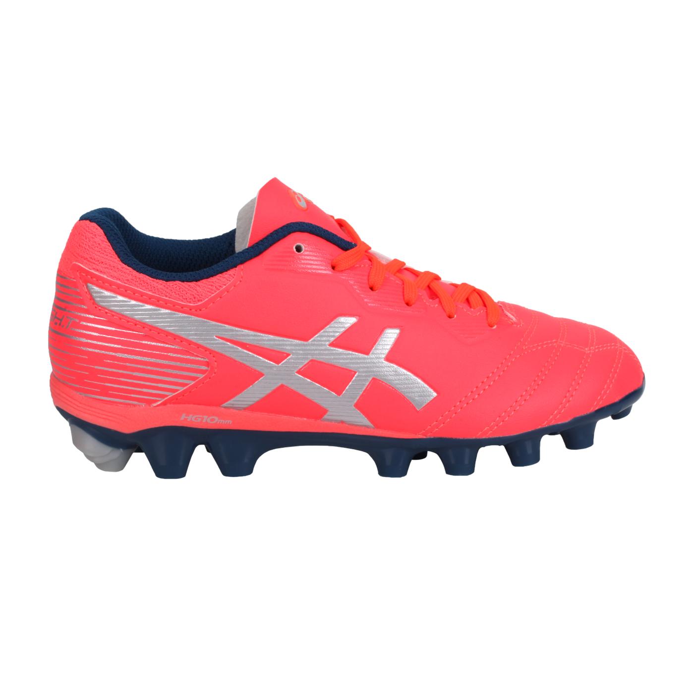 ASICS 中童足球鞋  @DS LIGHT JR GS@1104A019-701 - 螢光粉銀