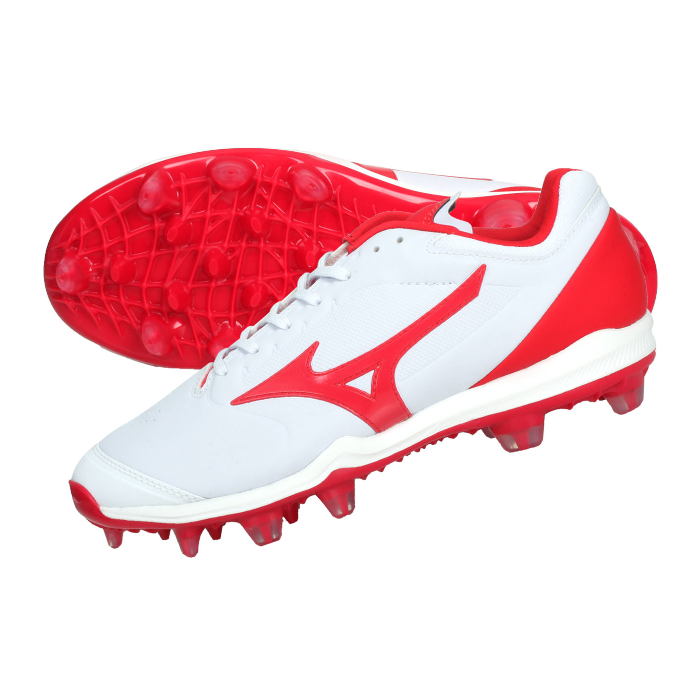 MIZUNO 棒壘膠釘鞋  @DOMINANT 3 TPU@11GP202262 - 白紅