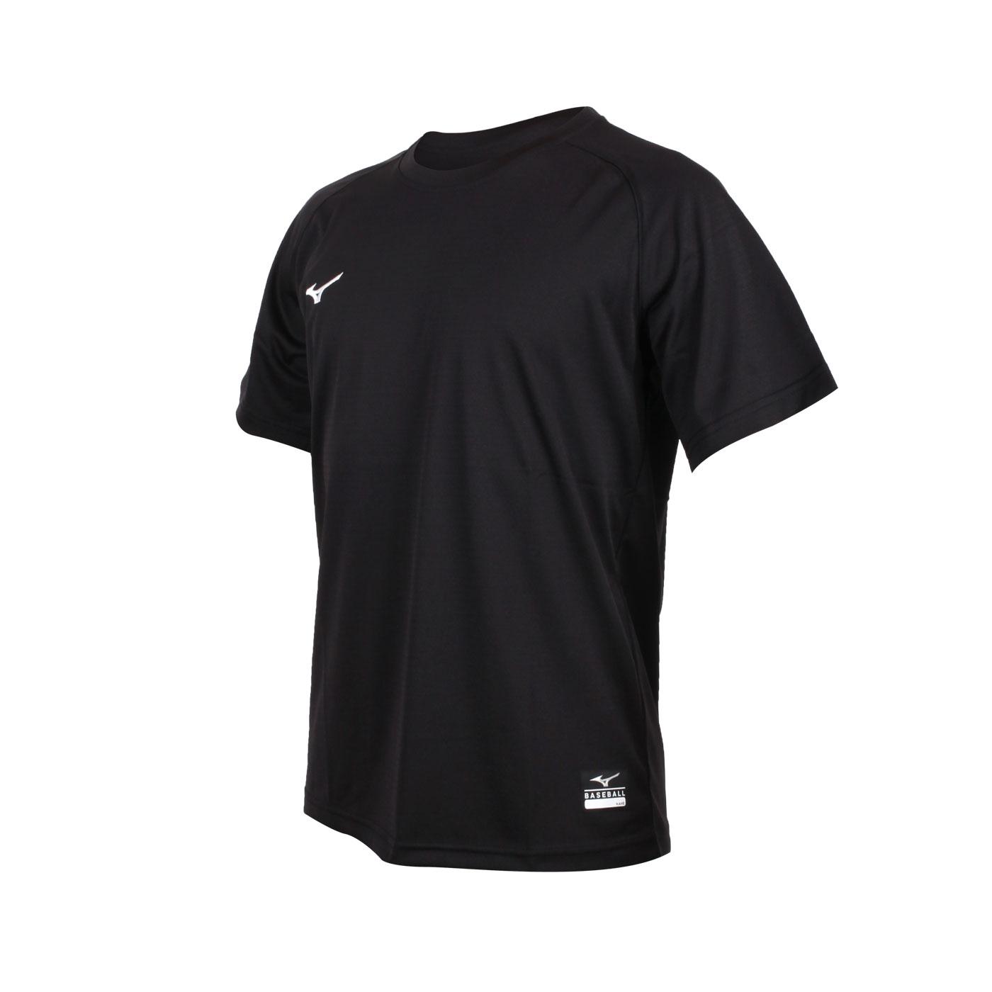 MIZUNO 男款棒球練習短袖T恤 12TC0L1109 - 黑白