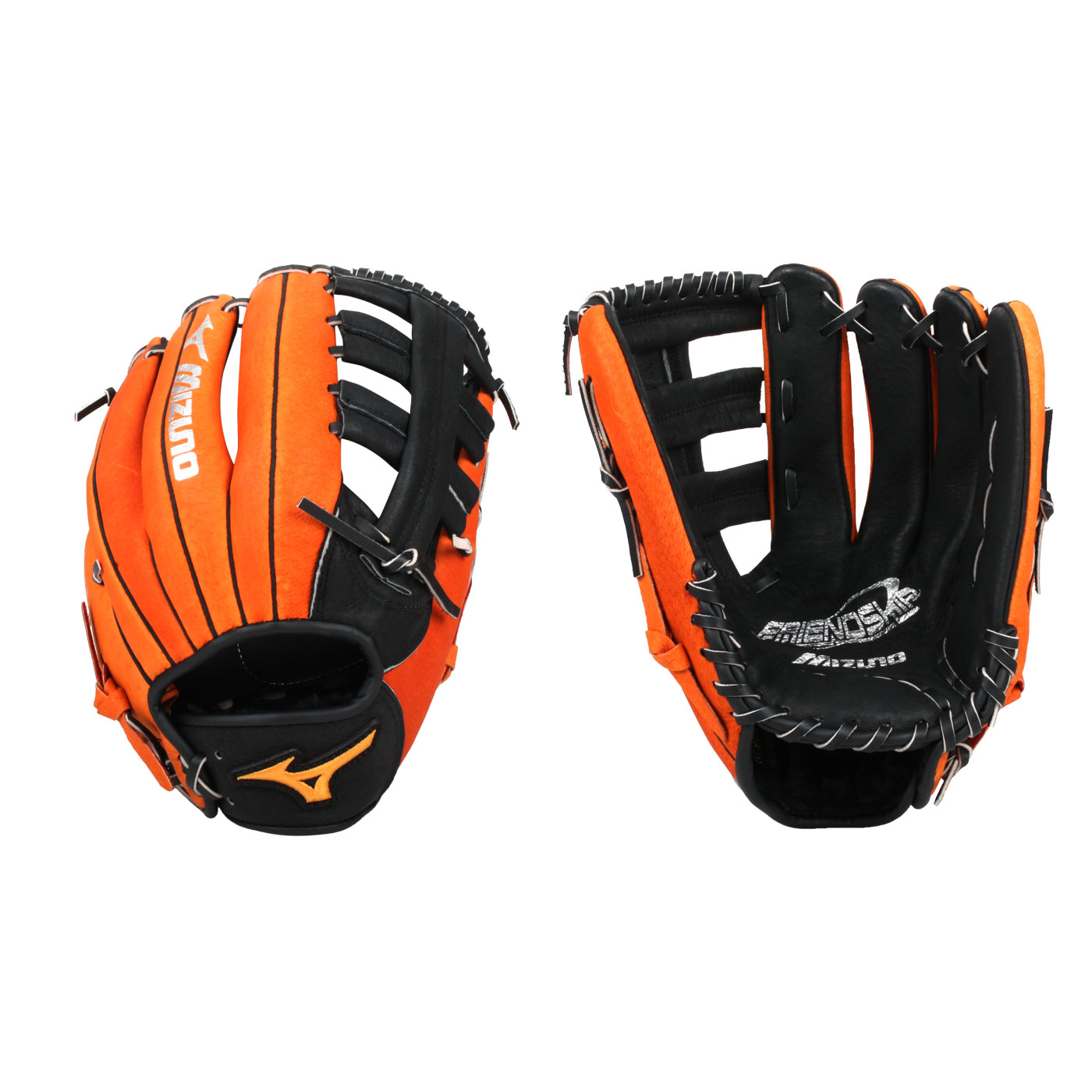 MIZUNO 壘球手套 1ATGS21930-0951 - 橘黑銀