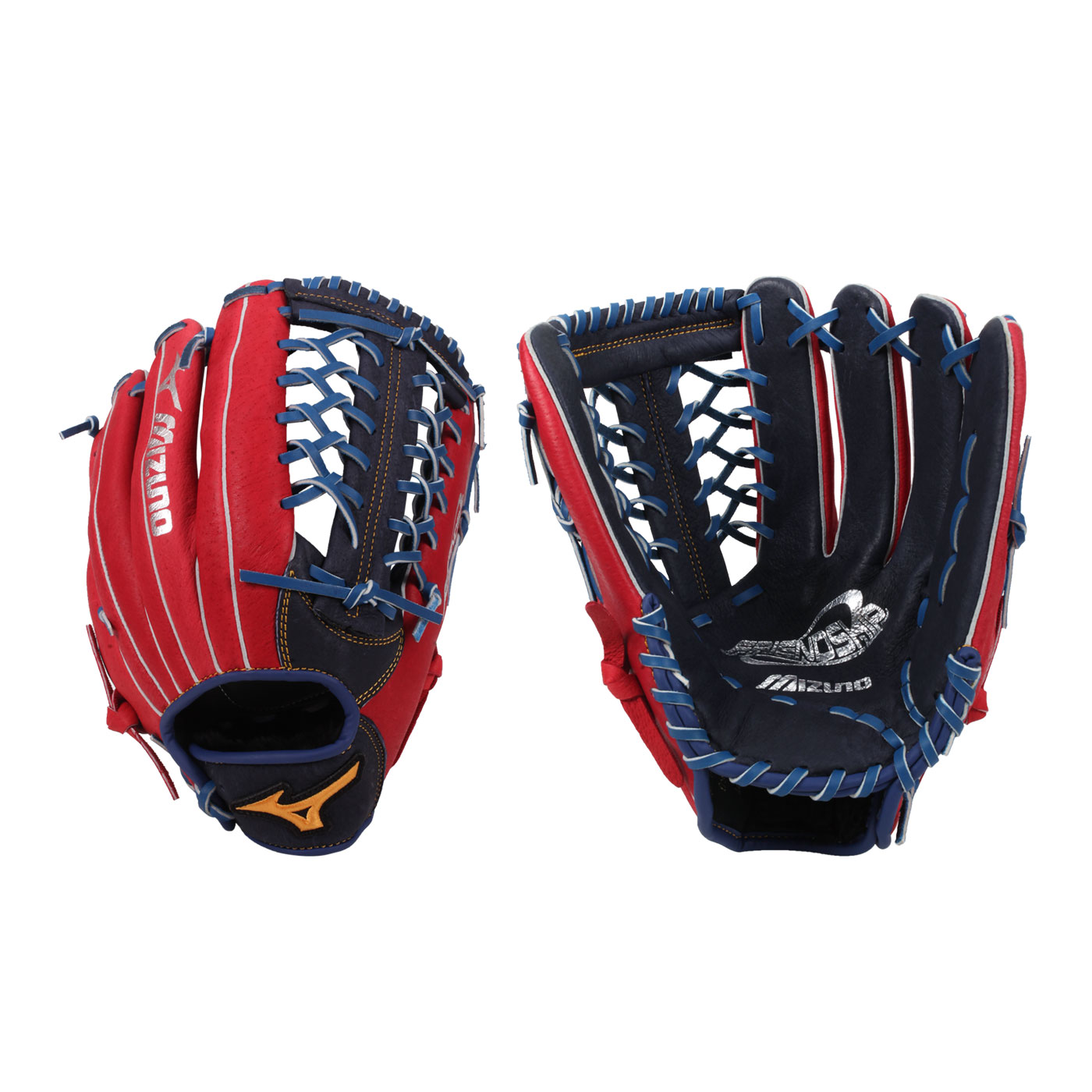 MIZUNO 壘球手套 1ATGS21960-2962 - 紅丈青黃