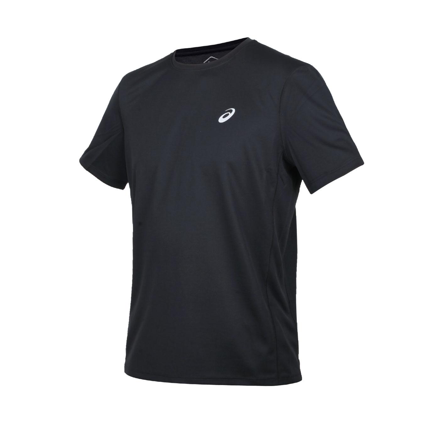 ASICS 男款短袖T恤 2011A813-001 - 黑銀