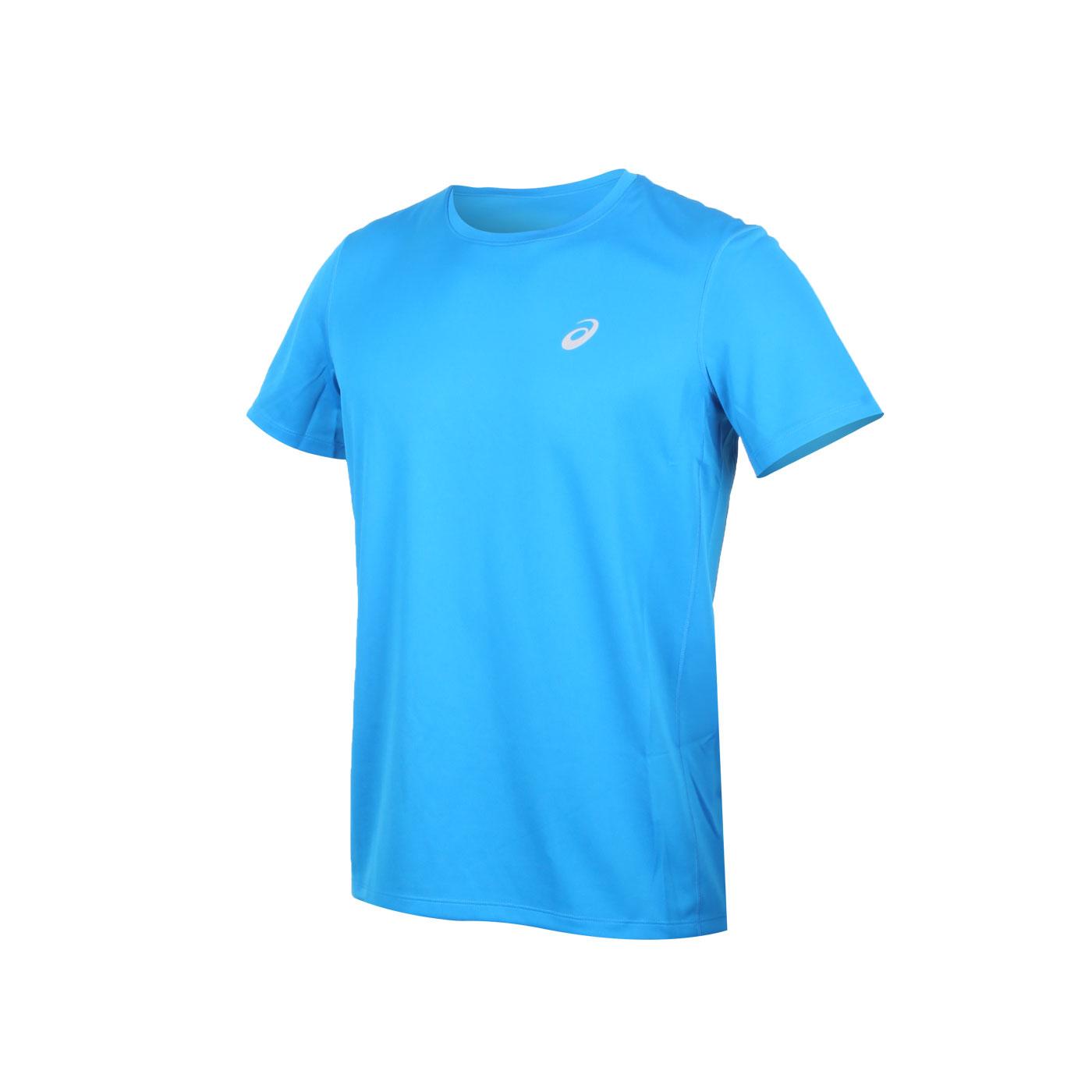 ASICS 男款片假名短袖T恤 2011A866-404 - 寶藍銀