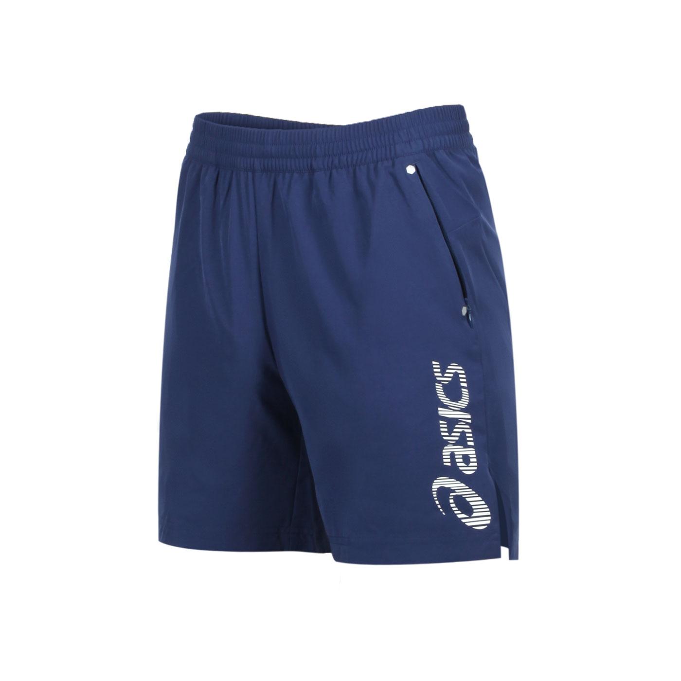 ASICS 男款7吋平織短褲 2011B492-001 - 丈青銀