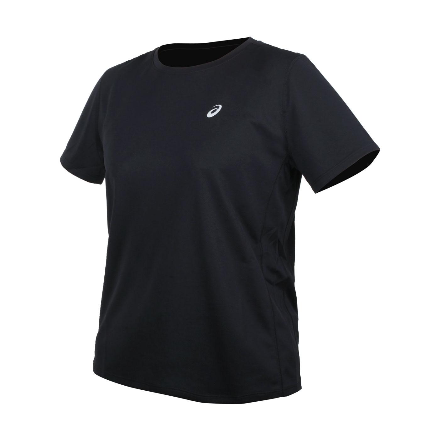 ASICS 女款片假名短袖T恤 2012A827-001 - 黑銀