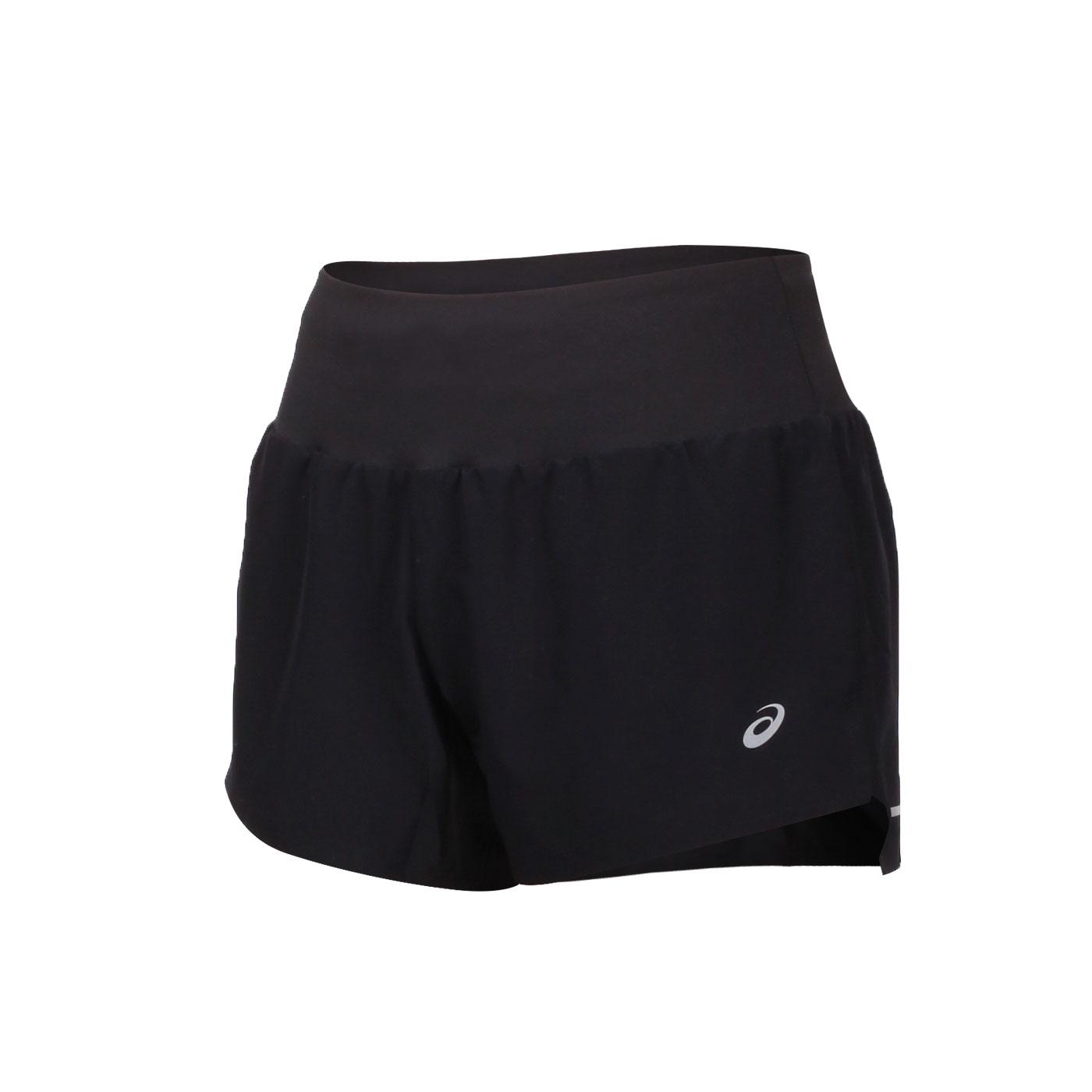 ASICS 女款3.5吋平織短褲 2012A835-001 - 黑銀