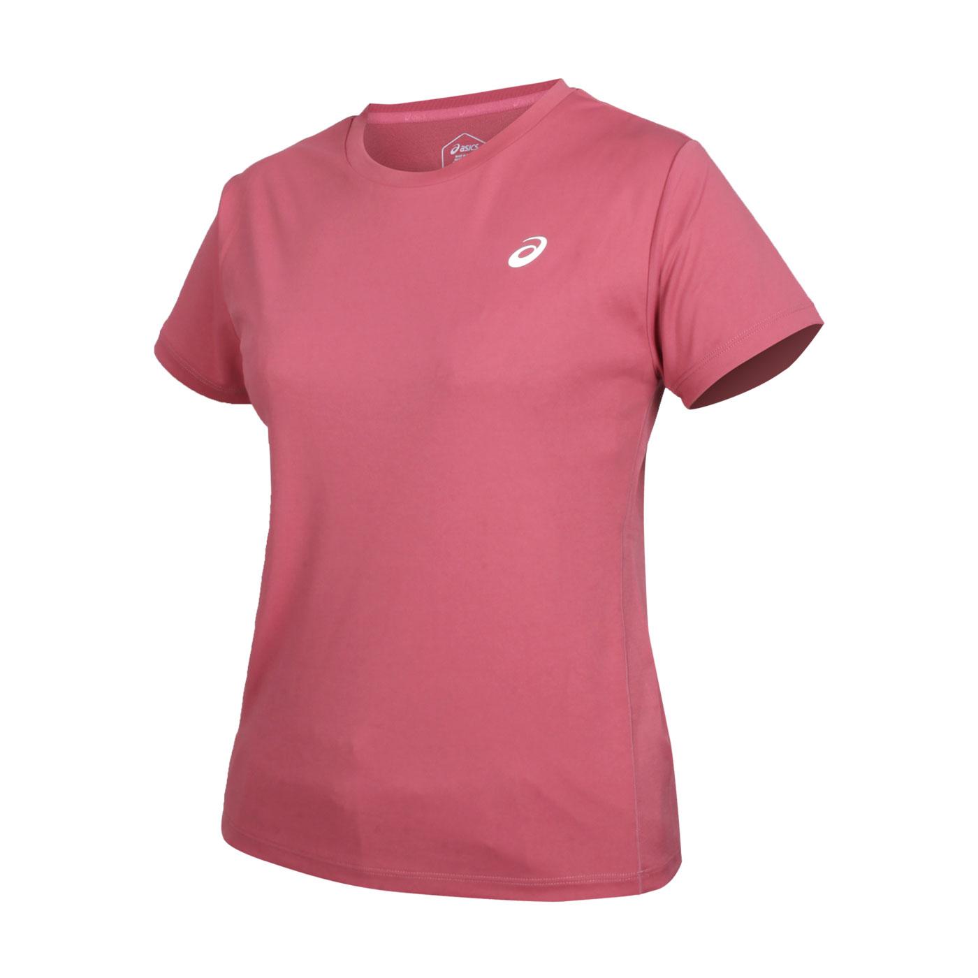 ASICS 女款短袖T恤 2012C256-700 - 玫紅白