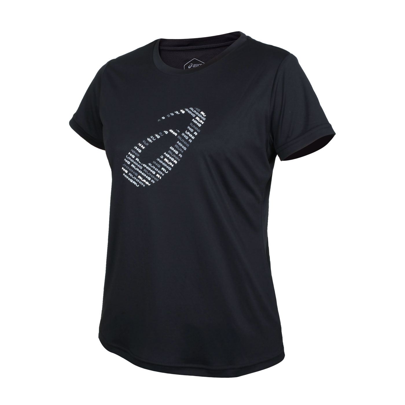 ASICS 女款短袖T恤 2012C345-001 - 黑銀