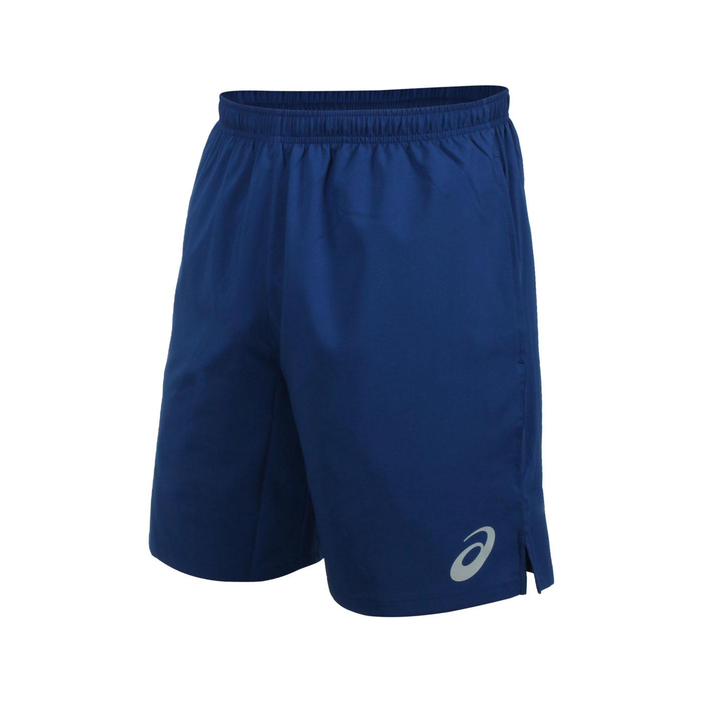 ASICS 男款平織短褲 2033B130-401 - 藍銀