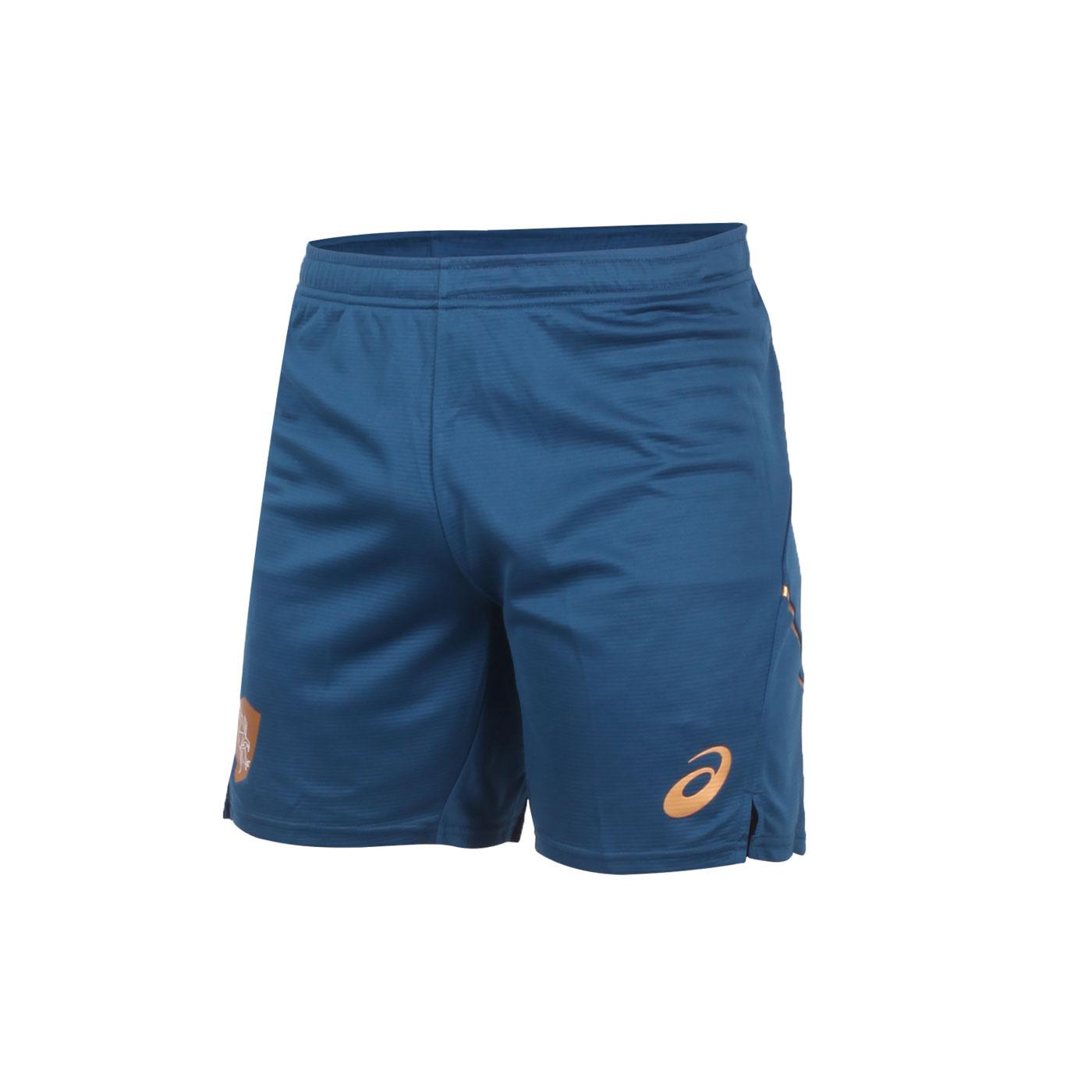 ASICS 男款針織短褲 2051A248-001 - 墨藍金